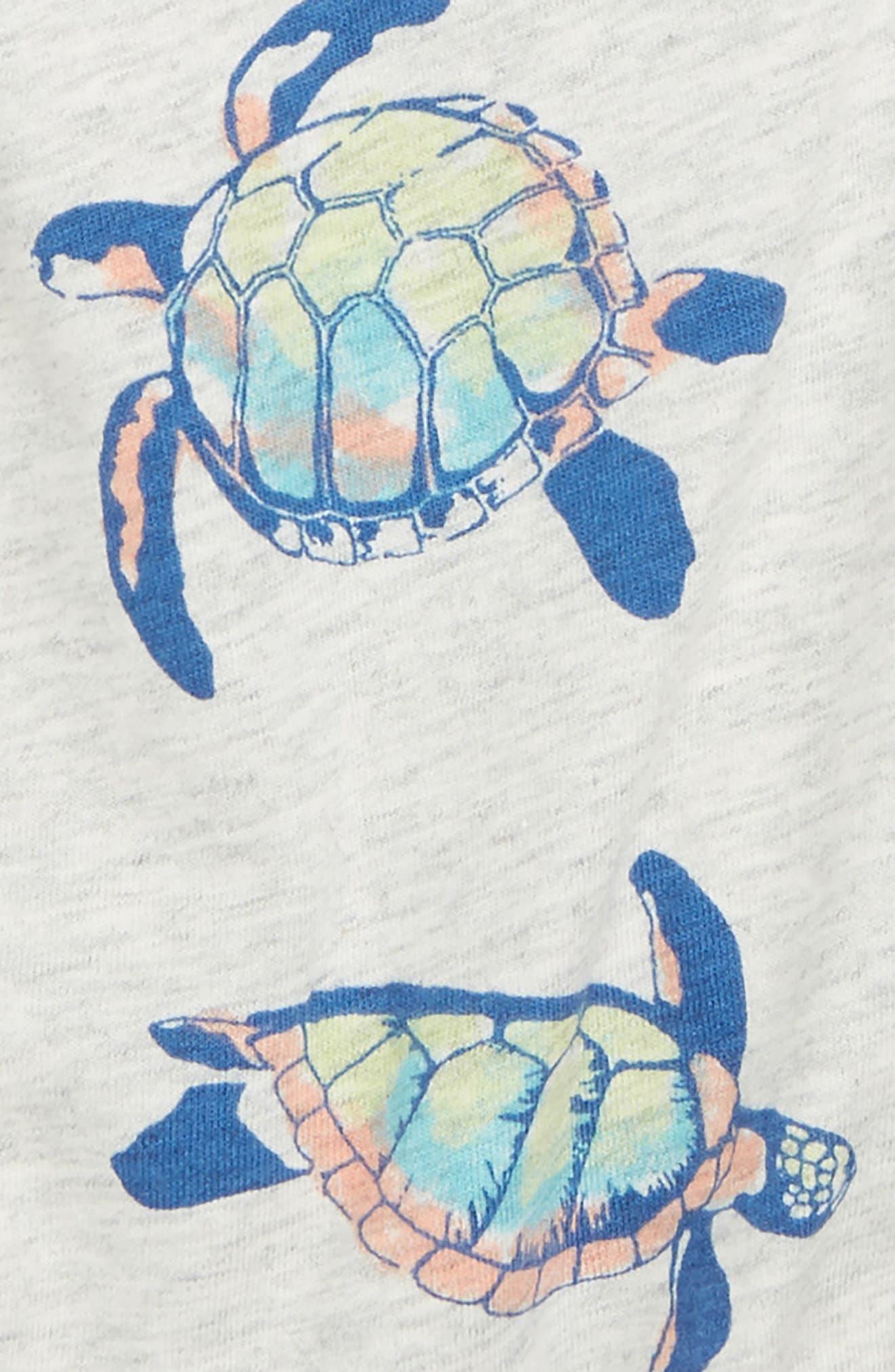 Cross Back Romper,                             Alternate thumbnail 2, color,                             Hawaiian Sea Turtles