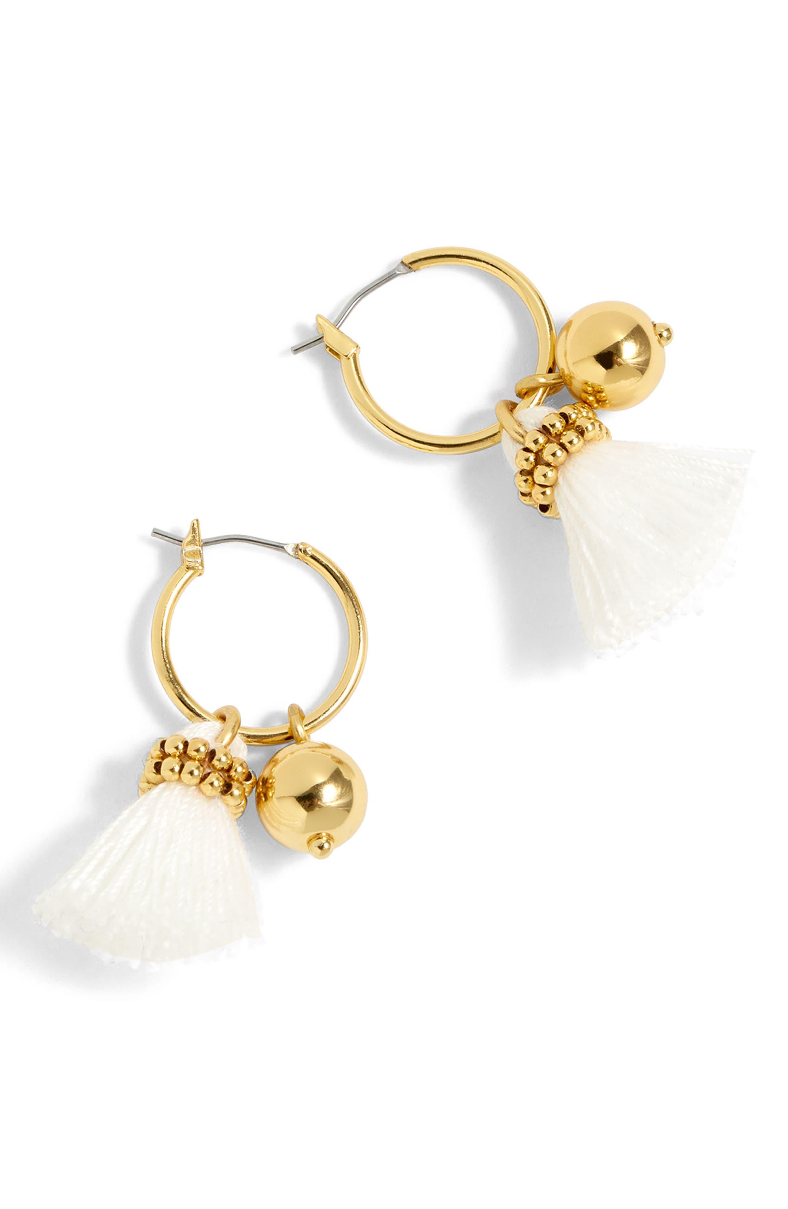 J.Crew Tassel Bell Hoop Earrings