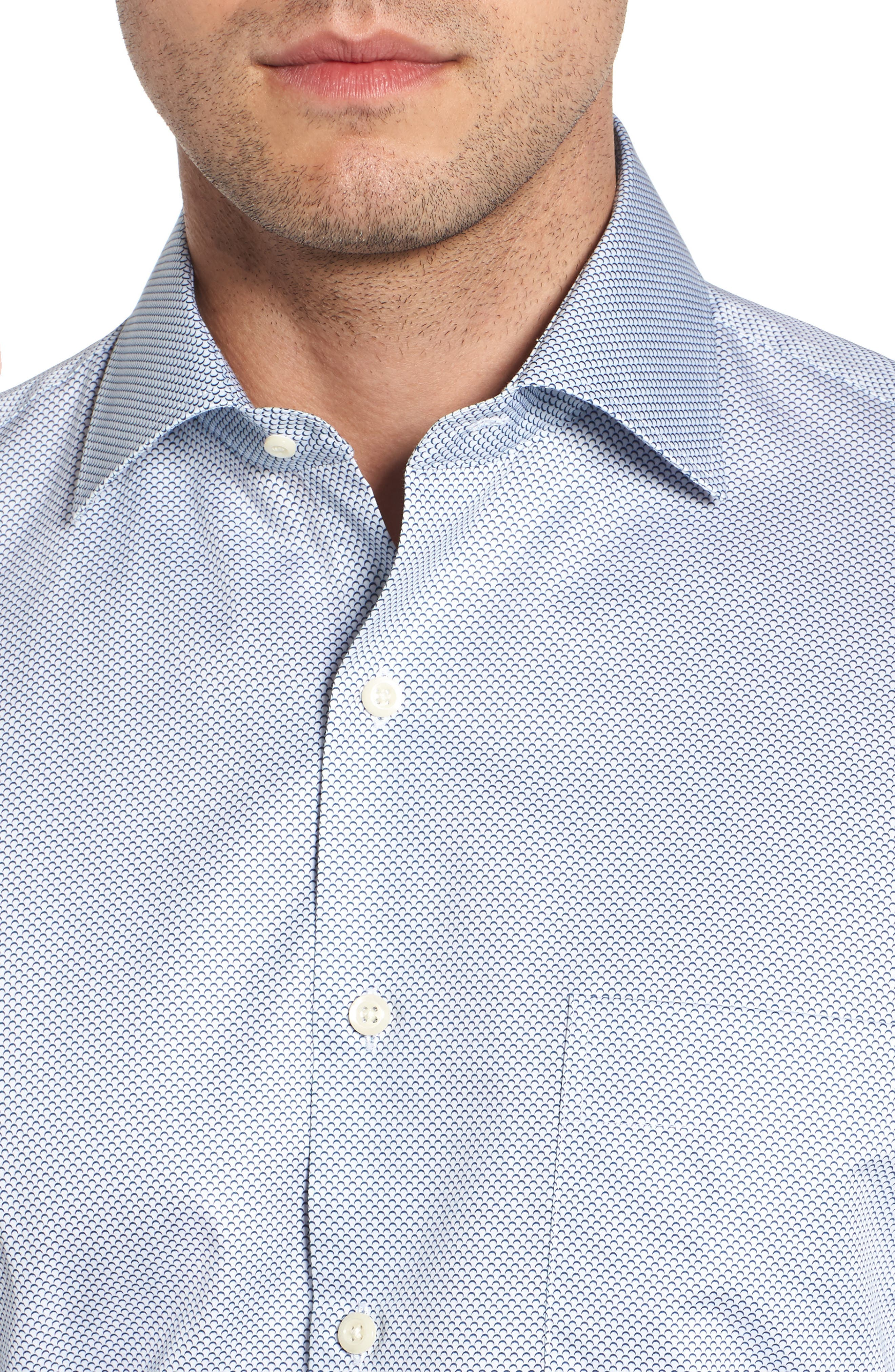 Off the Scale Print Sport Shirt,                             Alternate thumbnail 2, color,                             White