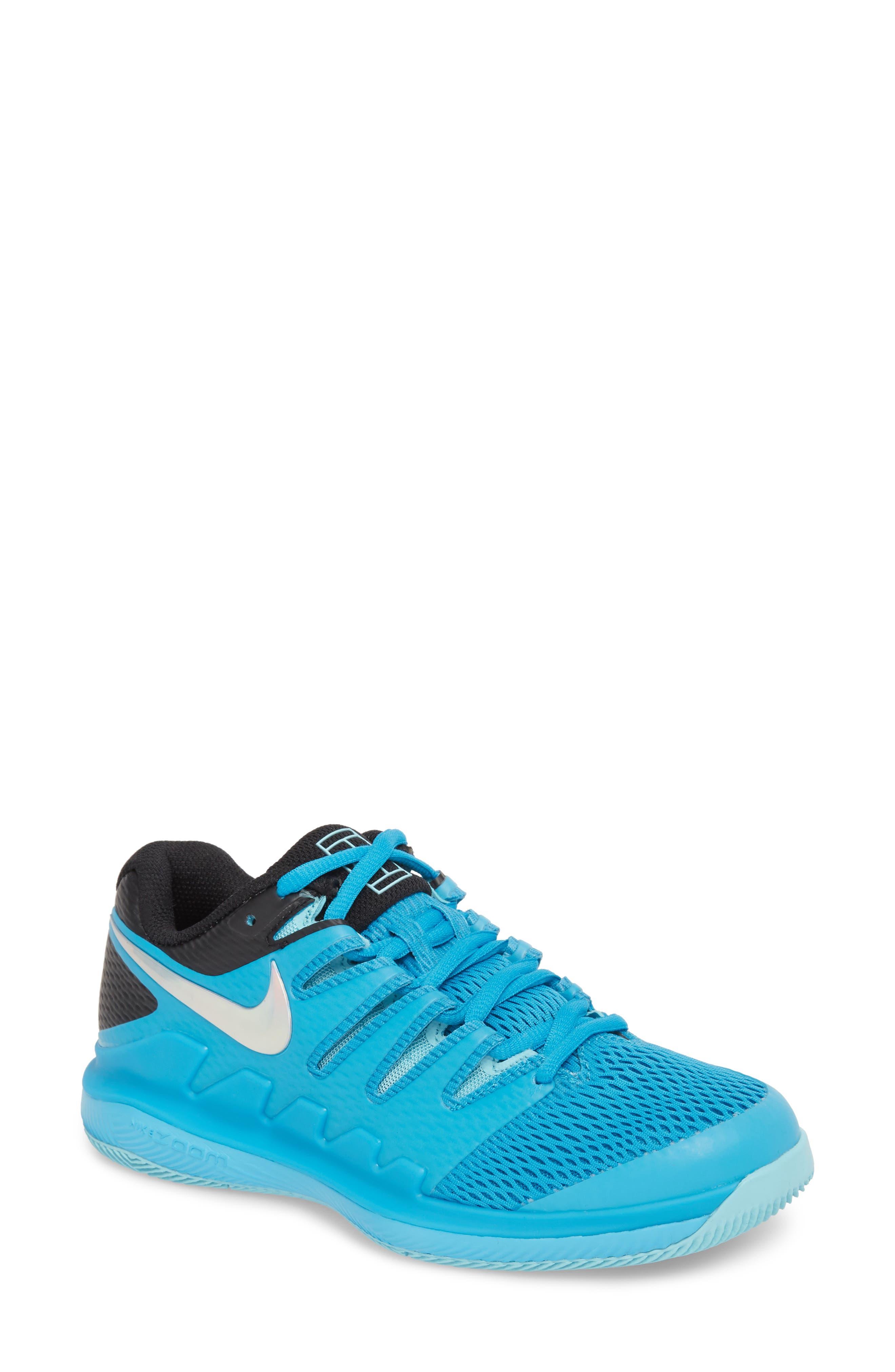 Air Zoom Vapor X Tennis Shoe,                             Main thumbnail 1, color,                             Light Blue Fury