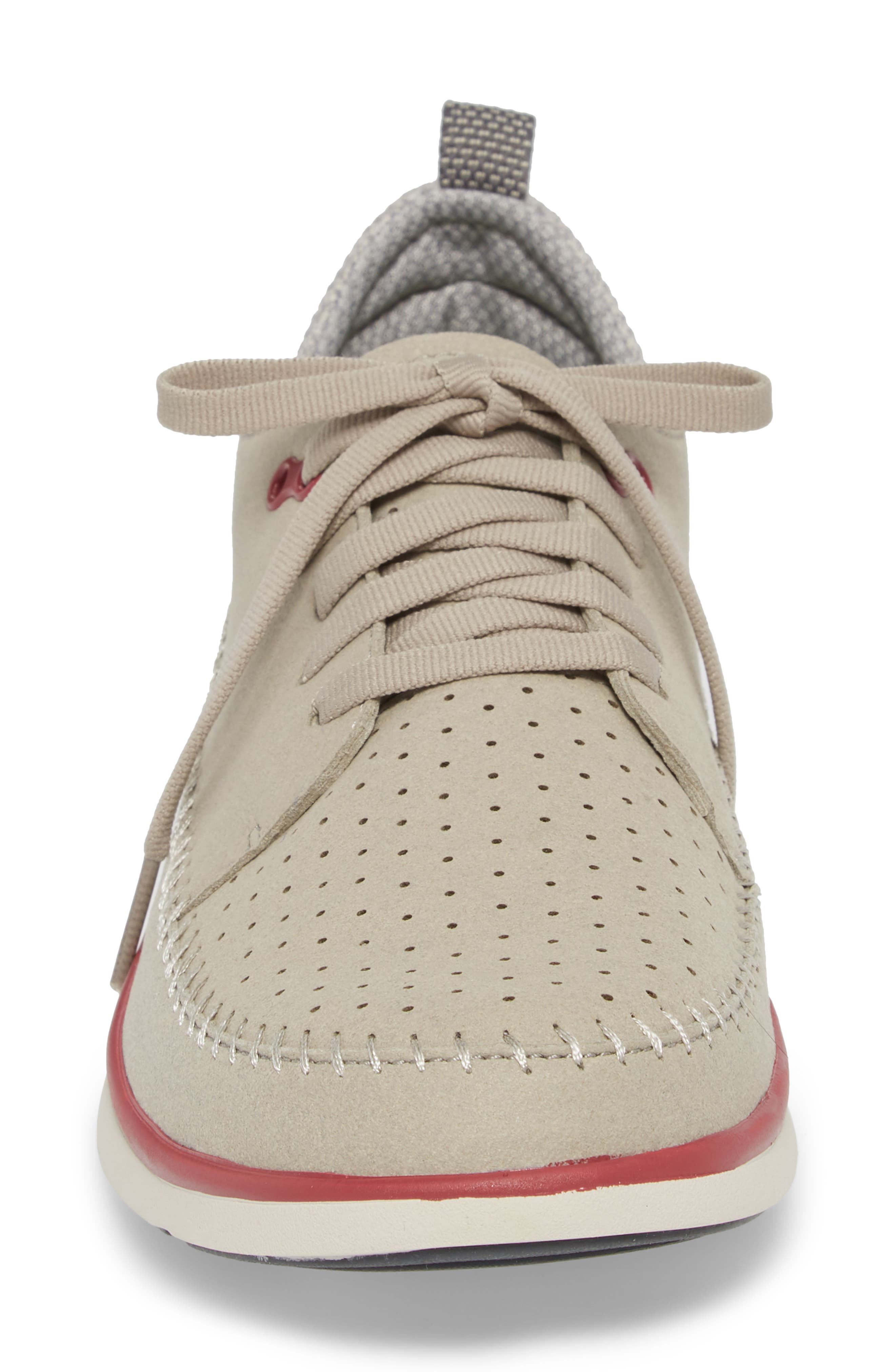 Worldwide Crane Perforated Sneaker,                             Alternate thumbnail 4, color,                             Grey