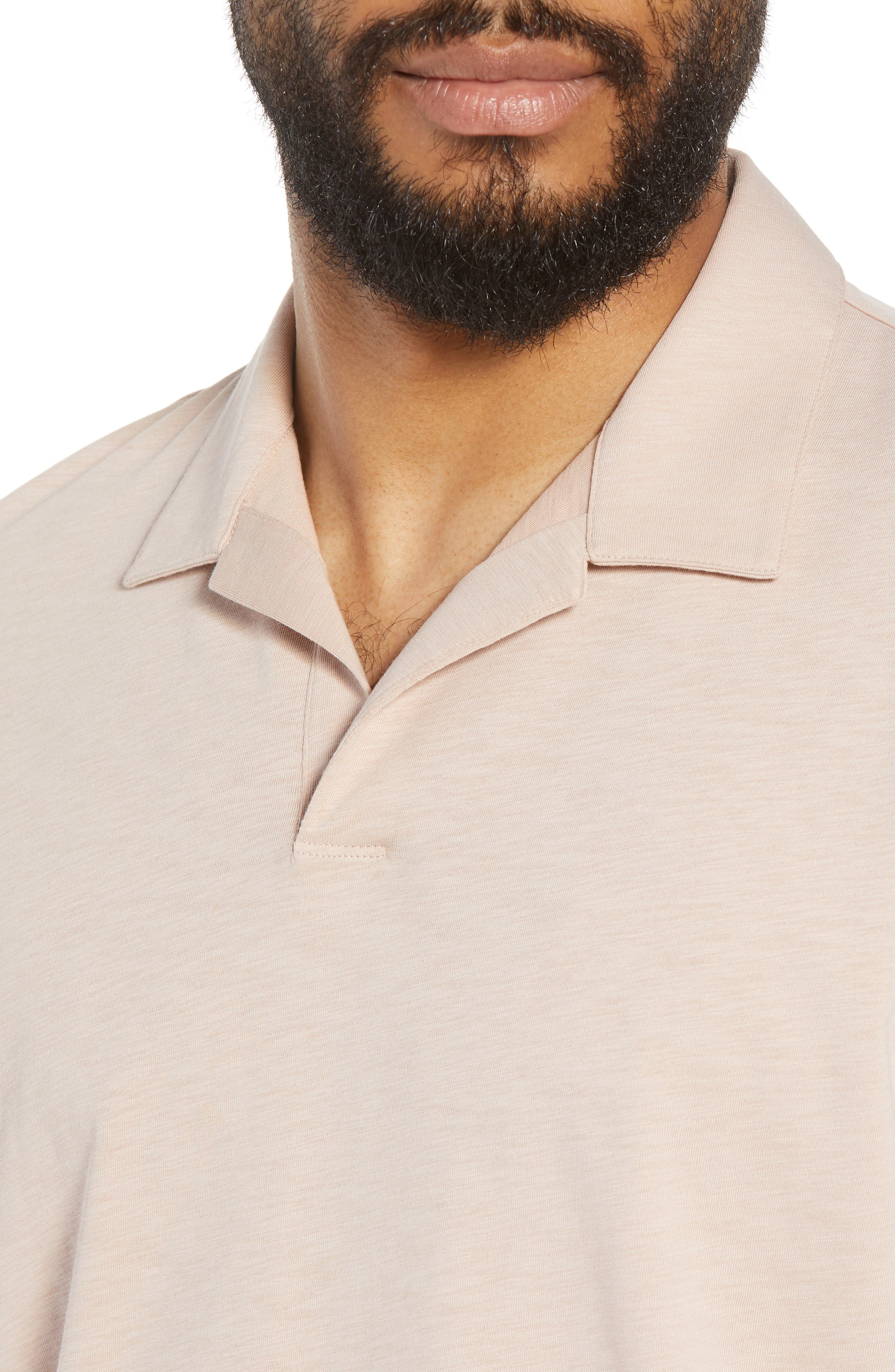 Willem Strato Regular Fit Polo,                             Alternate thumbnail 4, color,                             Petal