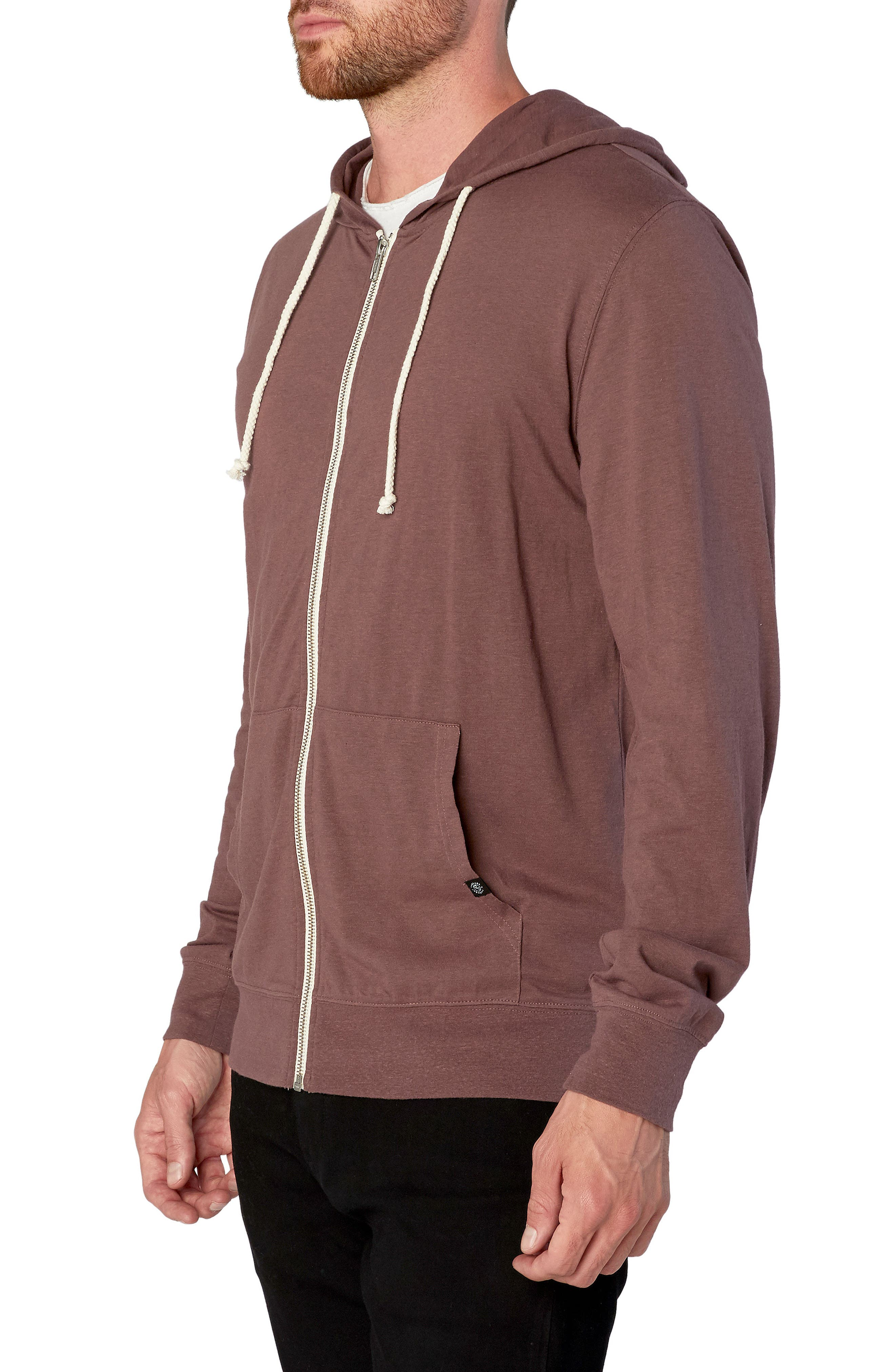 Threads for Thought Giulio Zip Hoodie,                             Alternate thumbnail 3, color,                             Twilight Mauve