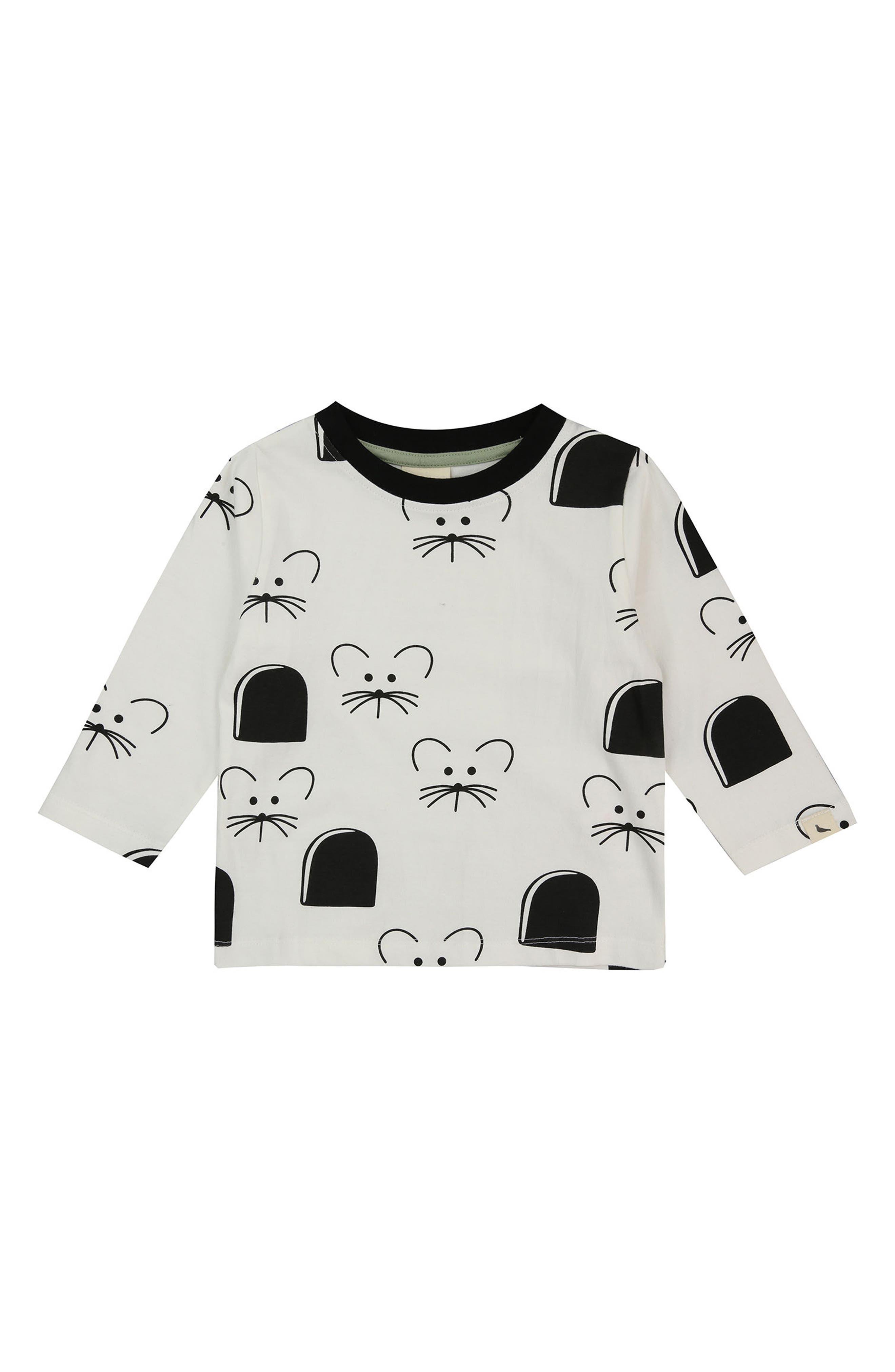 Mouse House Organic Cotton Shirt,                             Main thumbnail 1, color,                             White