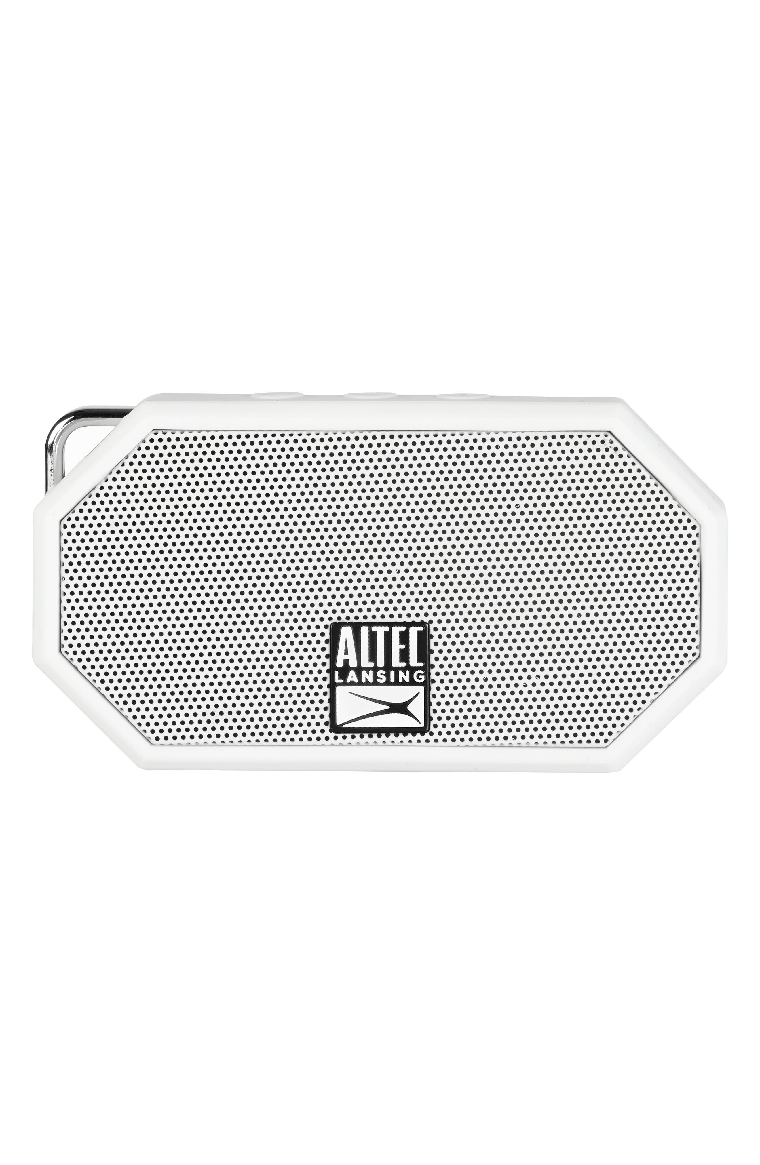 Mini H2O 3 Bluetooth<sup>®</sup> Speaker,                             Main thumbnail 1, color,                             White
