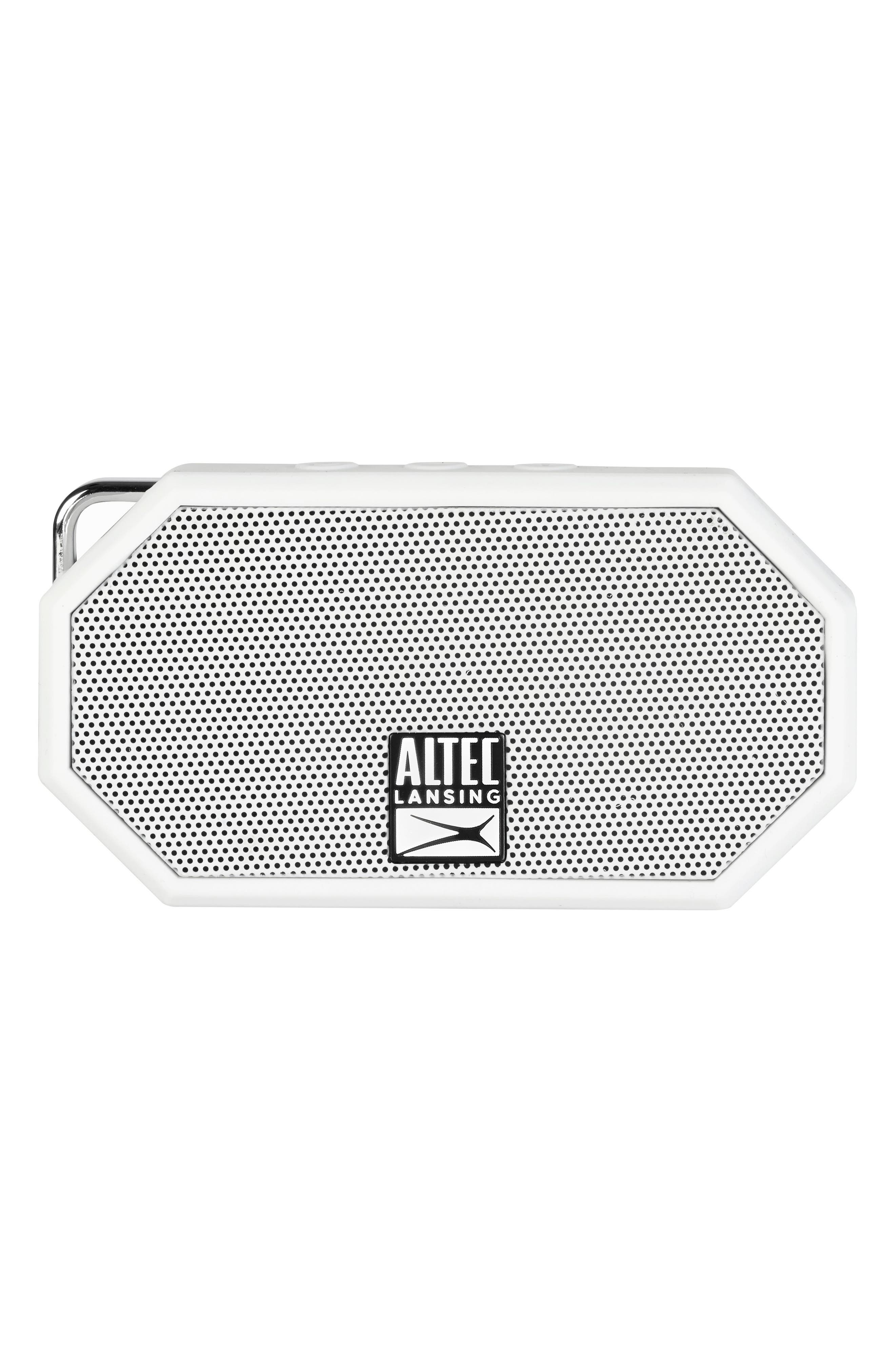 Mini H2O 3 Bluetooth<sup>®</sup> Speaker,                         Main,                         color, White