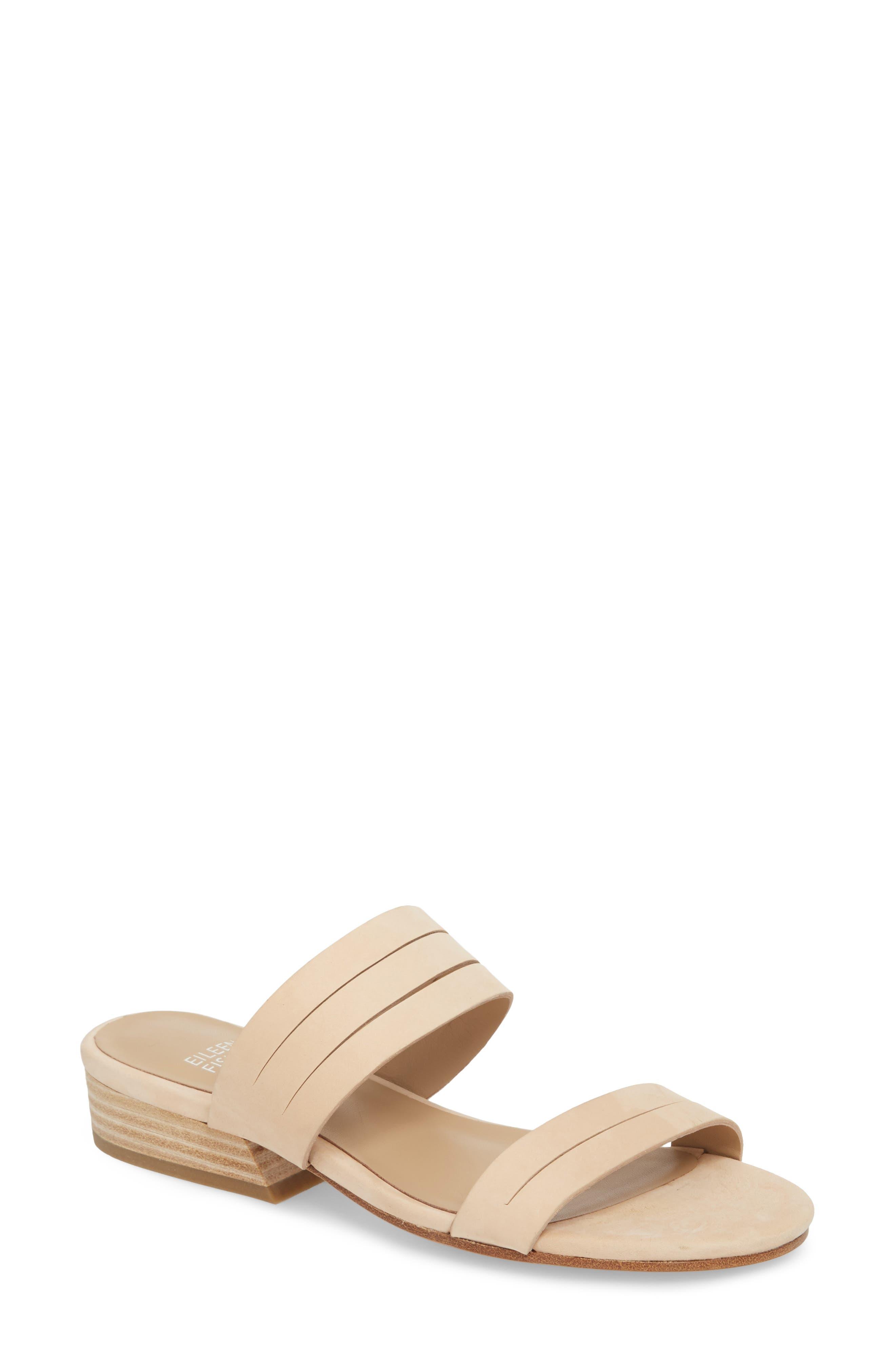 Finch Slide Sandal,                         Main,                         color, Cream Nubuck