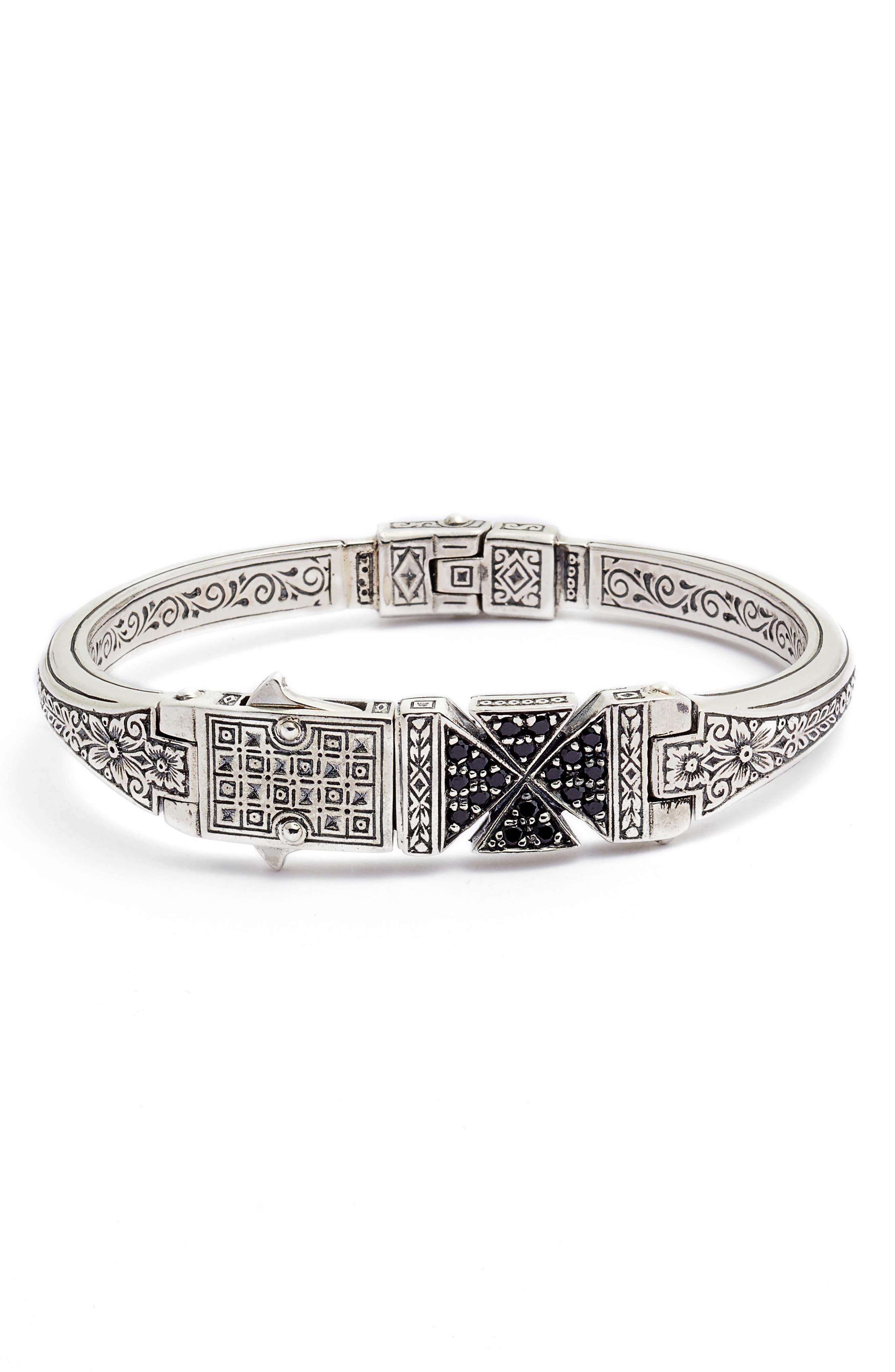 Konstantino Stavros Spinel Cross Cuff Bracelet