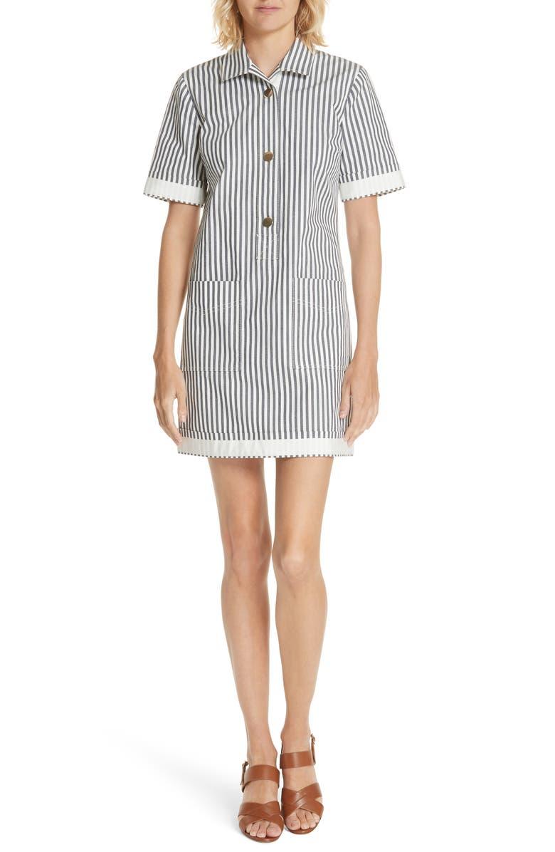 Utility Stripe Shirtdress