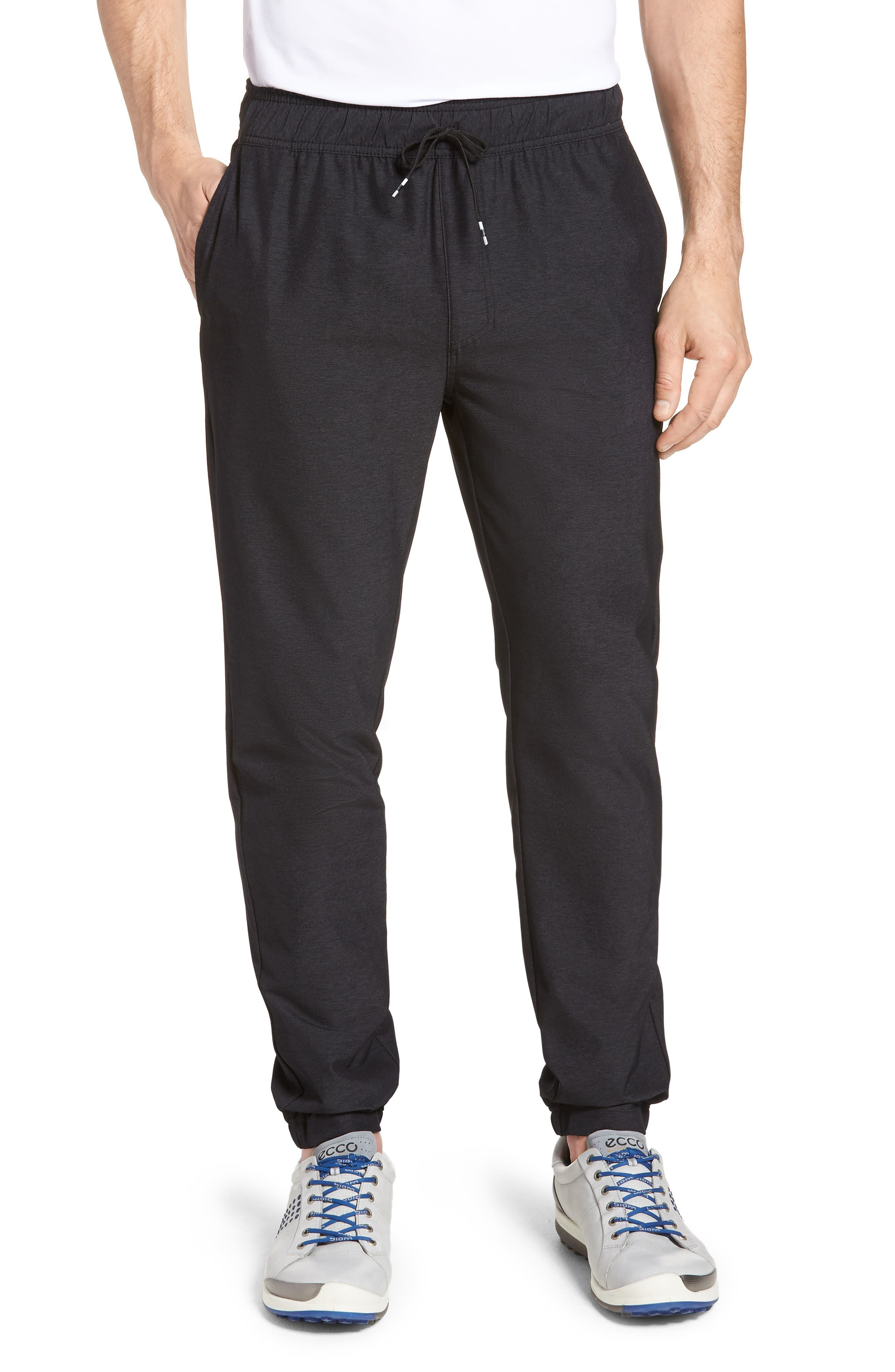 Relay Lounge Pants,                         Main,                         color, Heather Black