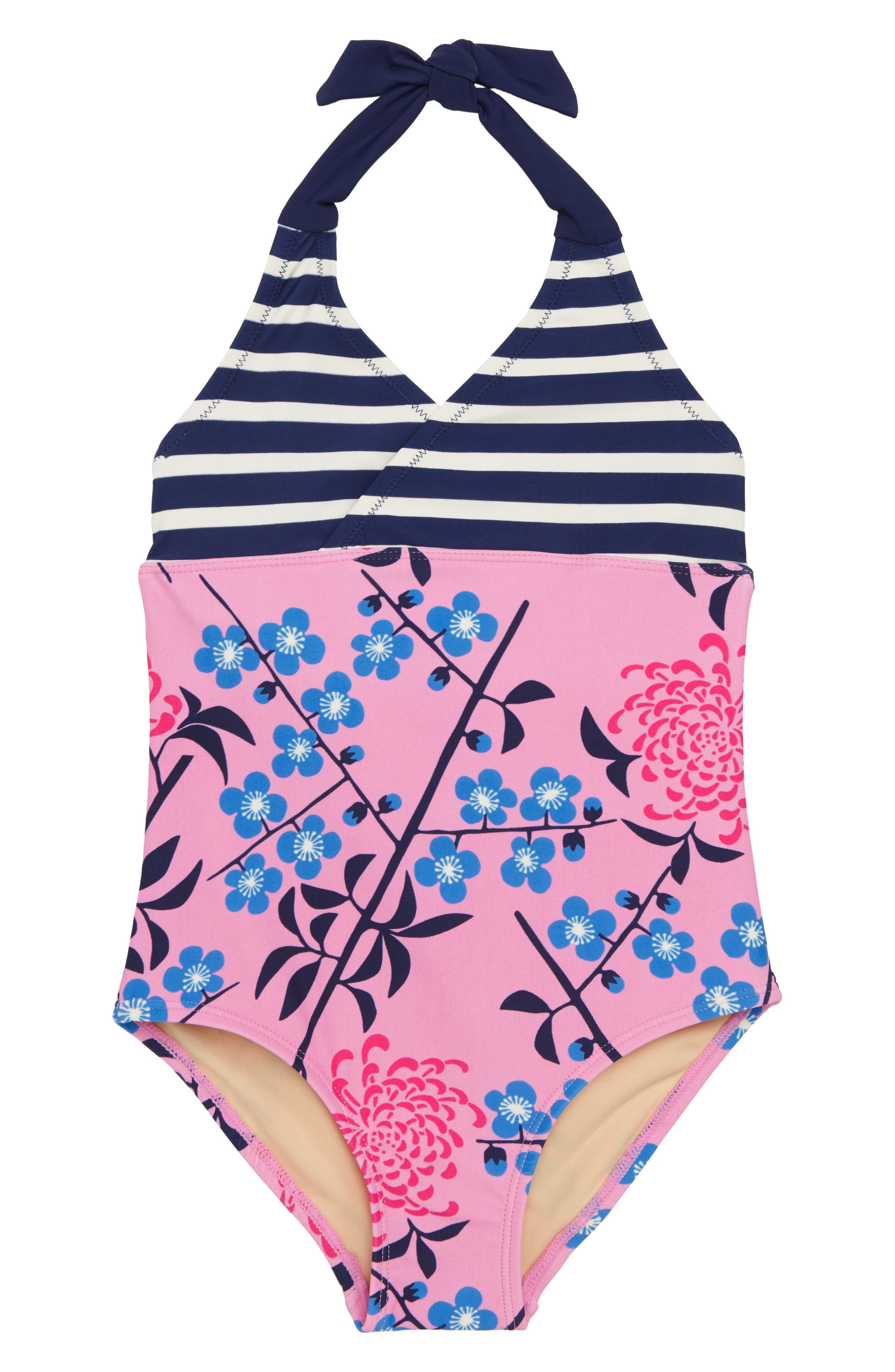 Tea Collection Halter One-Piece Swimsuit (Toddler Girls, Little Girls & Big Girls)