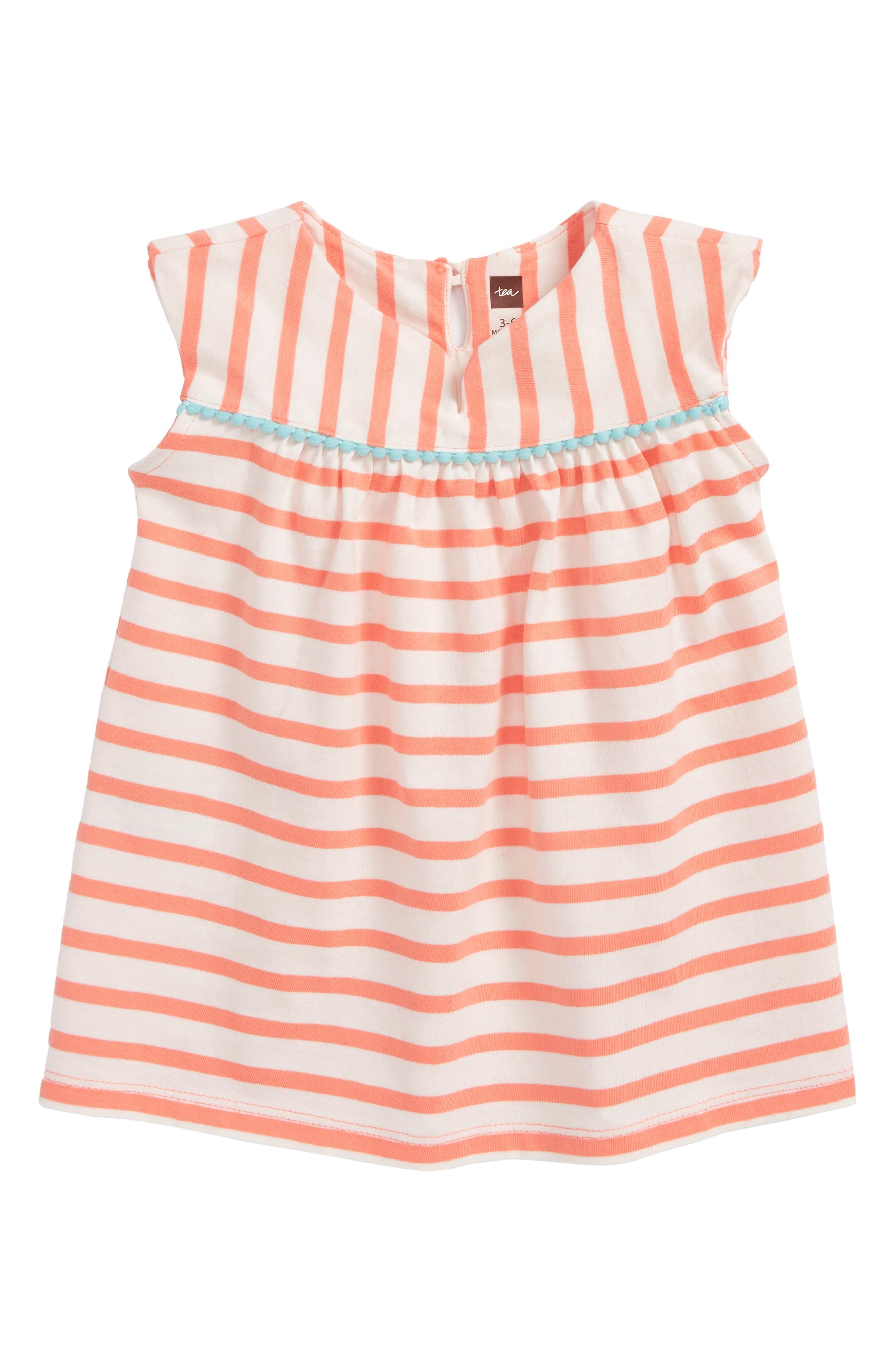 Tea Collection Pompom Dress (Baby Girls)