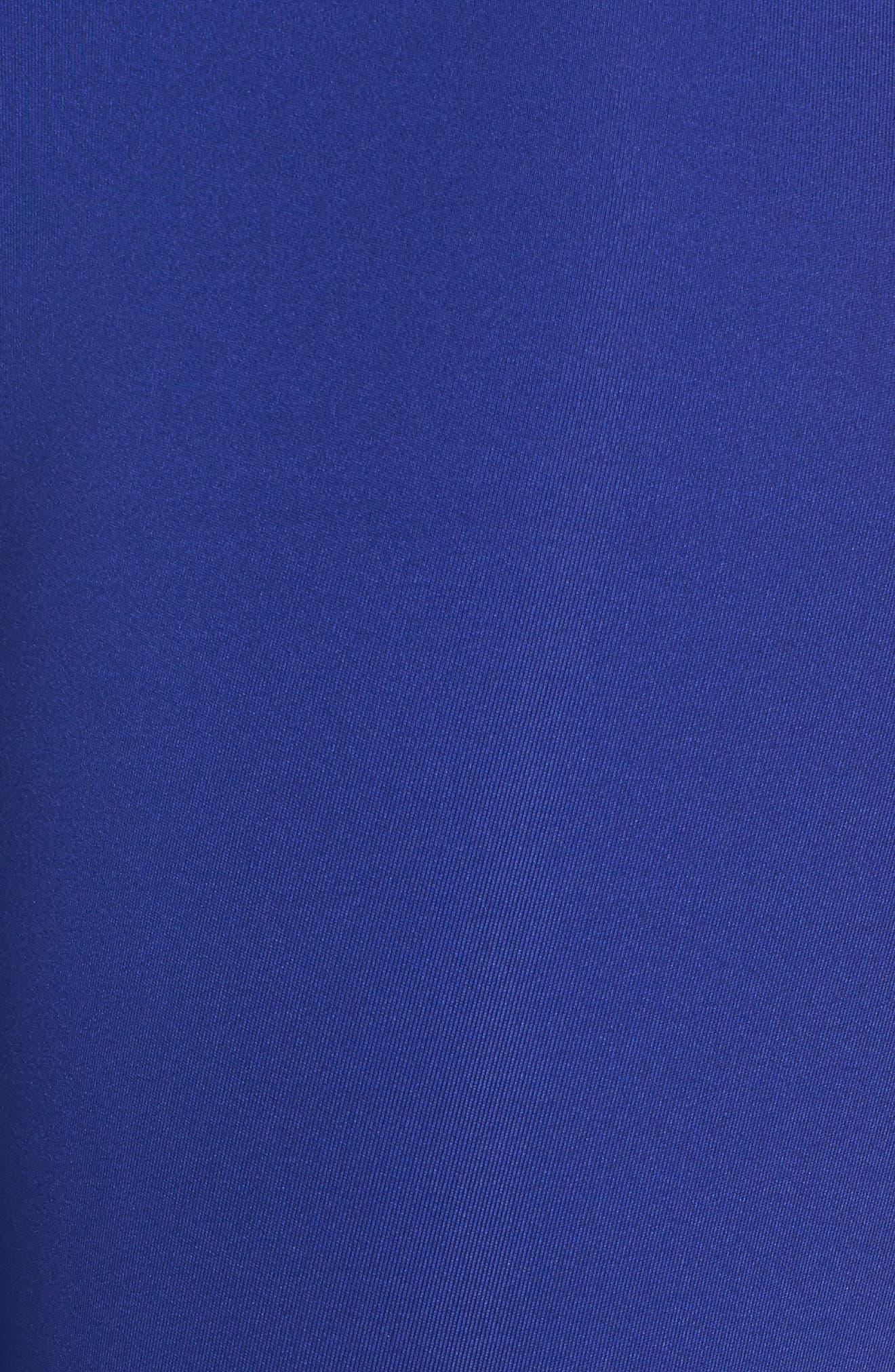 Breathelux Metallic Crop Studio Leggings,                             Alternate thumbnail 6, color,                             Formation Blue