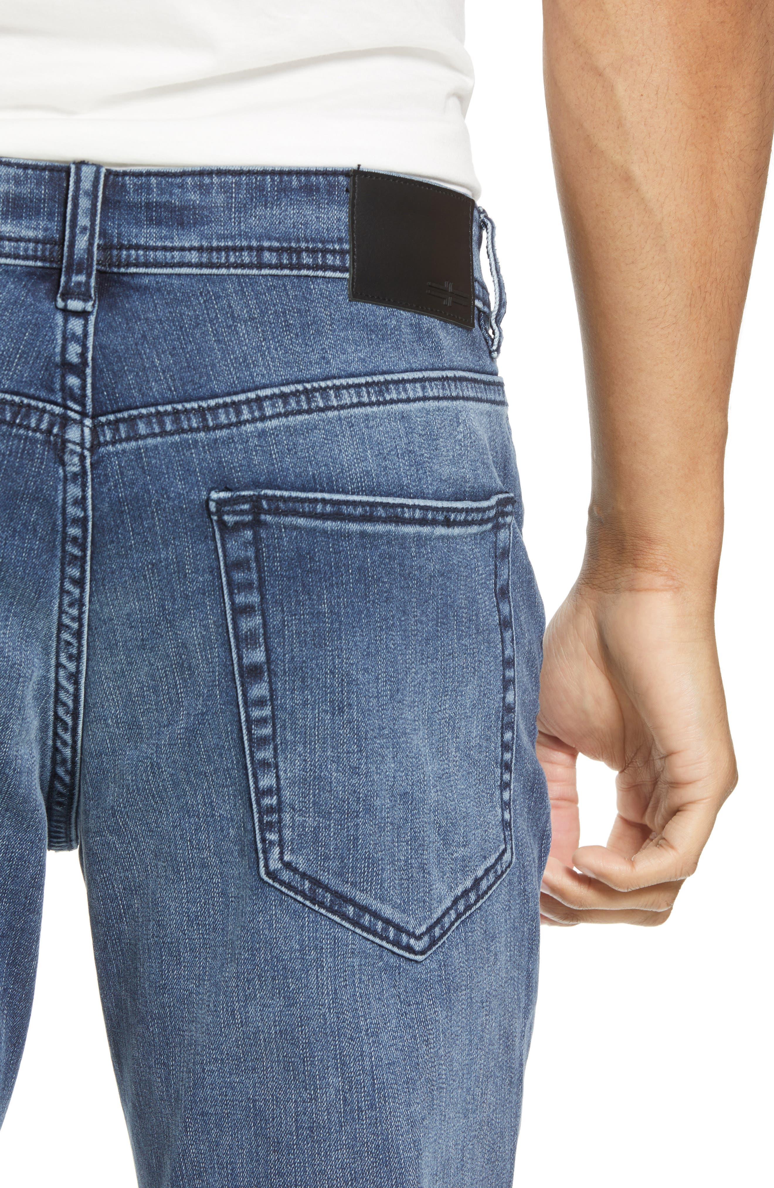Jeans Co. Slim Straight Leg Jeans,                             Alternate thumbnail 4, color,                             Southaven Mid Blue