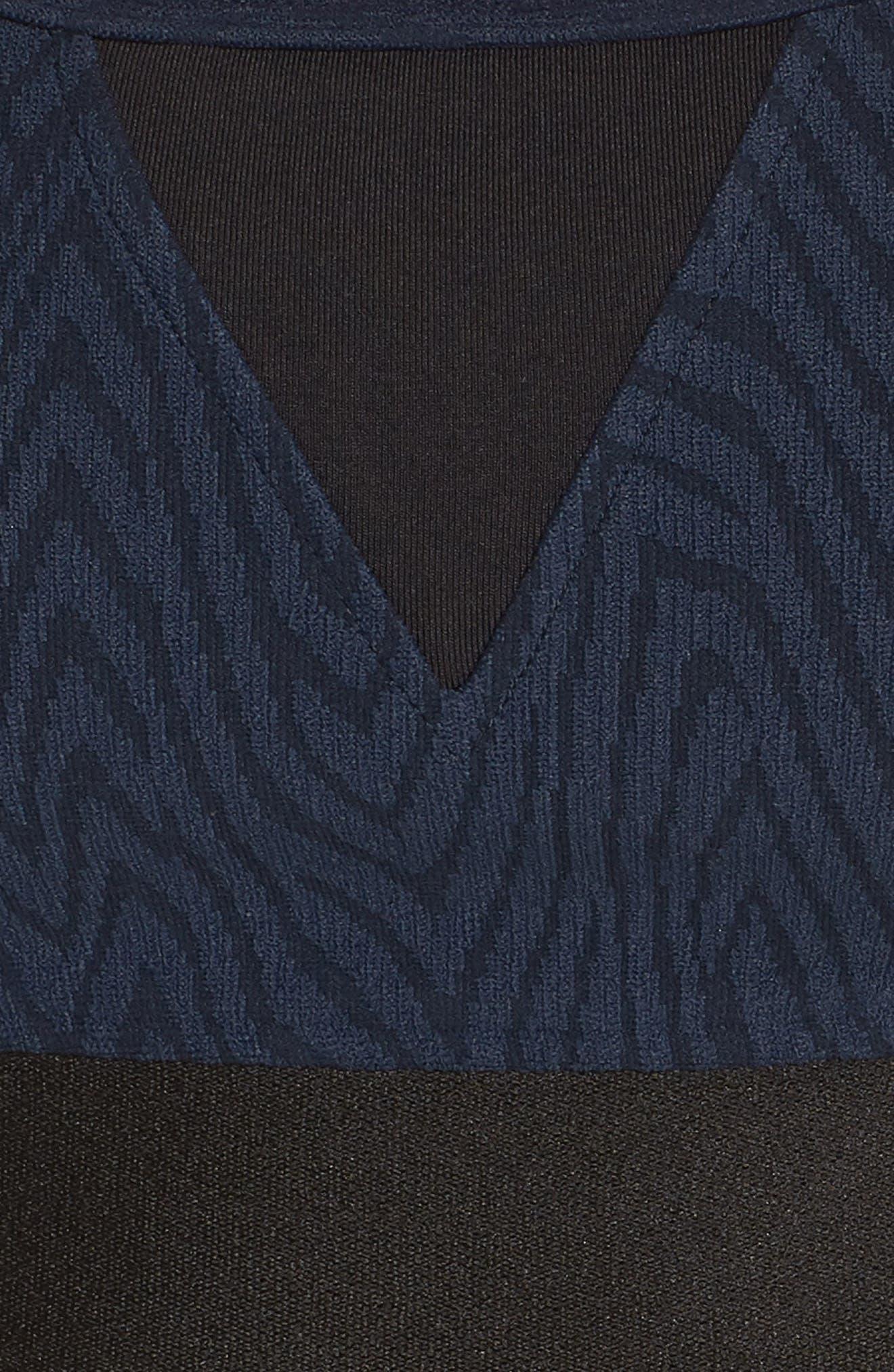 Trifecta Versatility Sports Bra,                             Alternate thumbnail 6, color,                             Midnight Blue