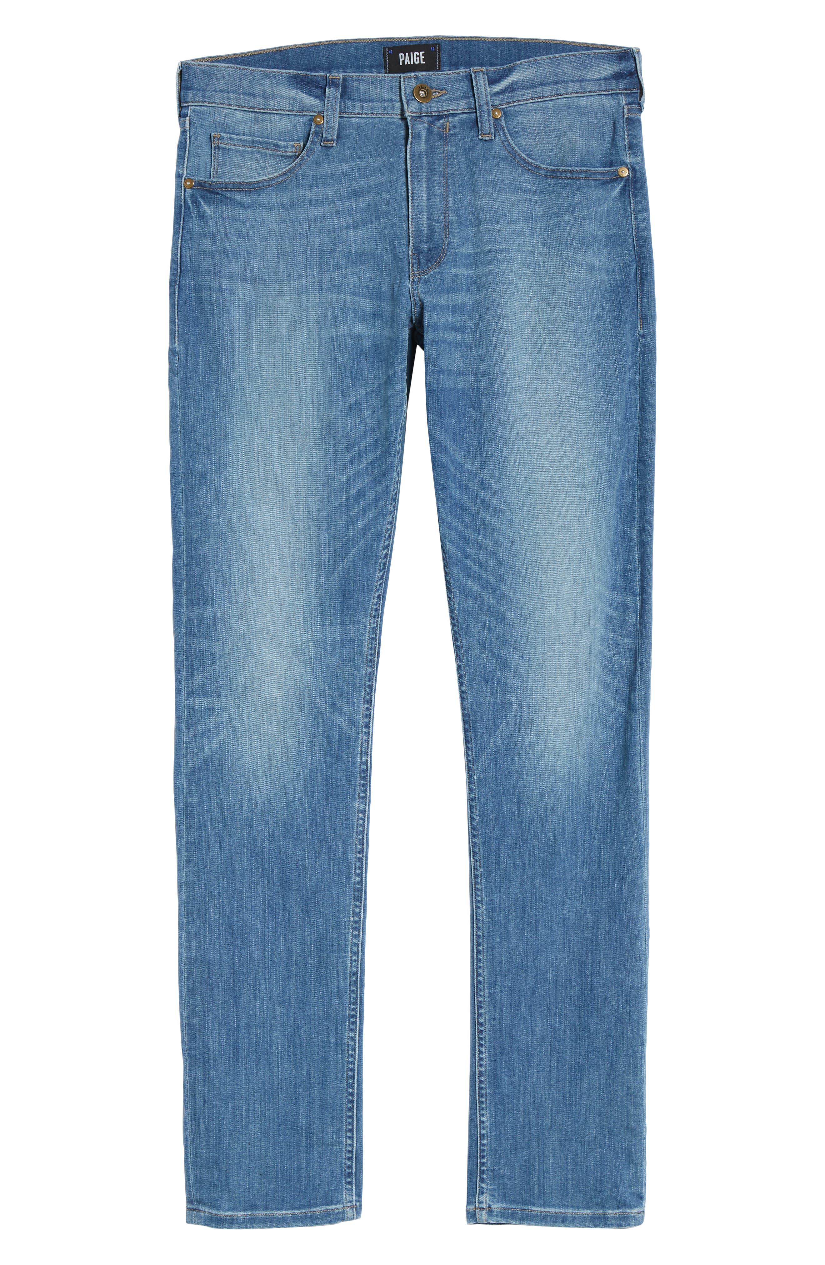 Transcend - Federal Slim Straight Leg Jeans,                             Alternate thumbnail 6, color,                             Hammonds