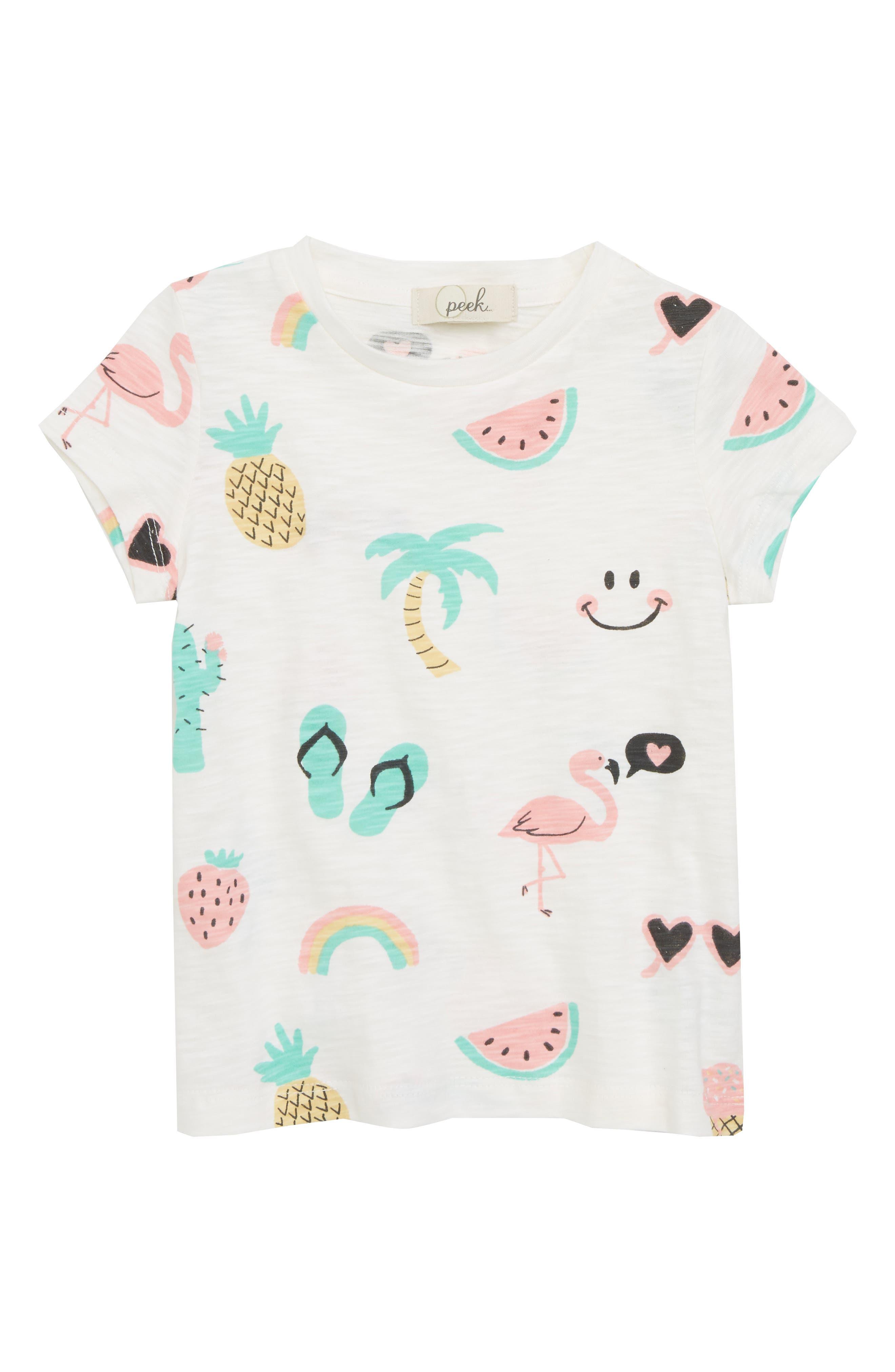 Peek Summer Tee (Toddler Girls, Little Girls & Big Girls)