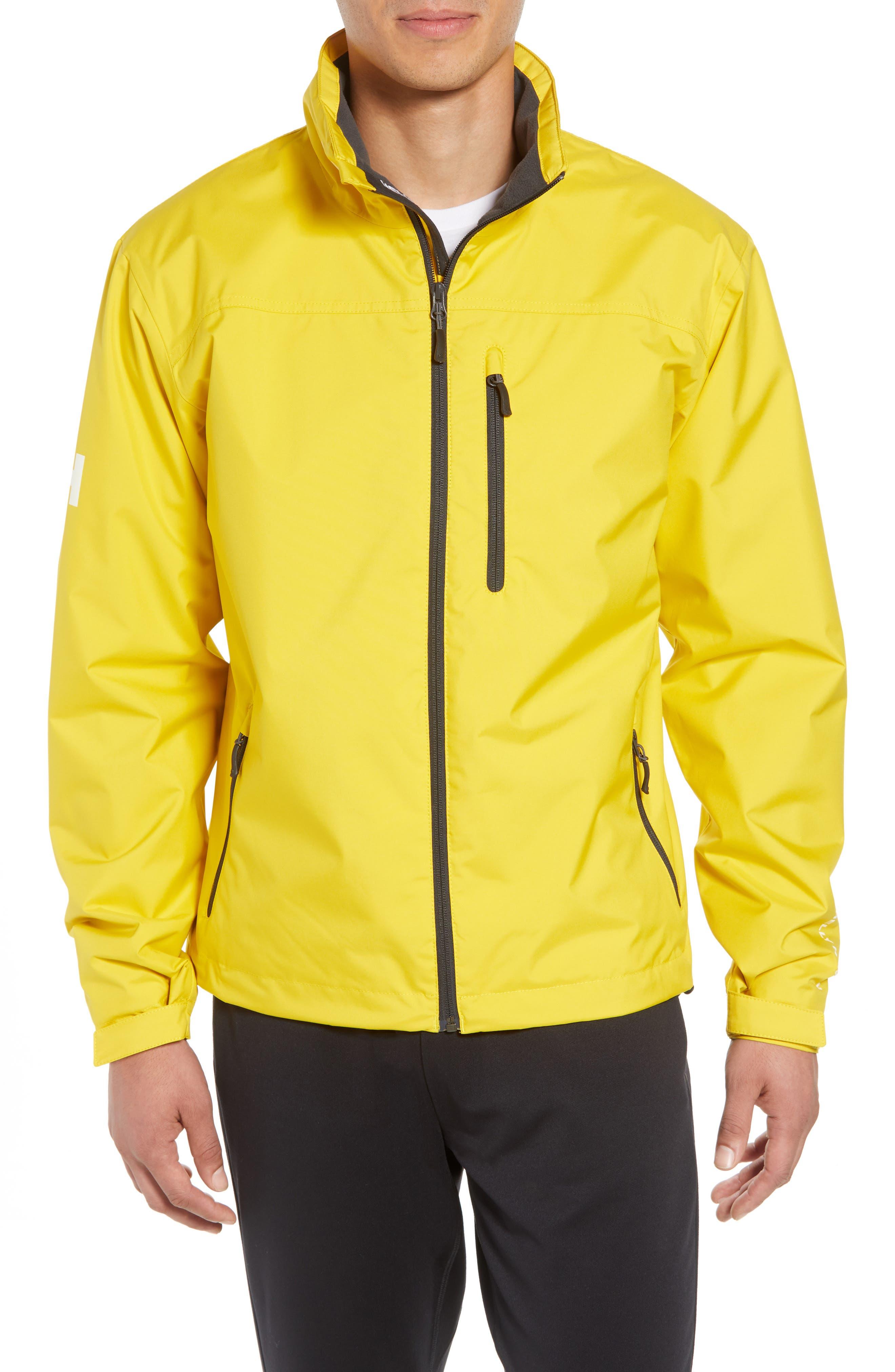 'Crew' Waterproof & Windproof Jacket,                         Main,                         color, Sulphur