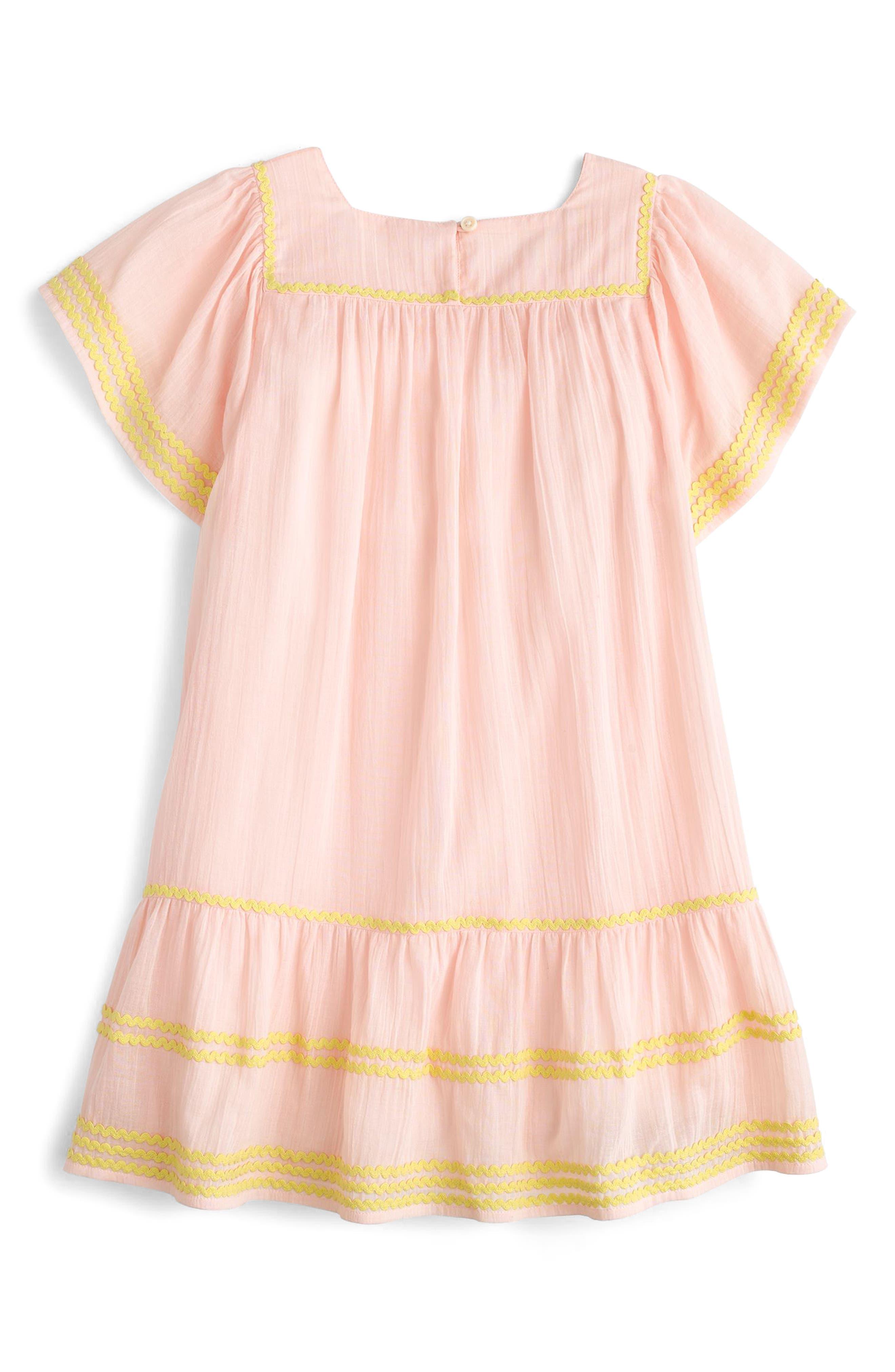 Bardot Cotton Dress,                             Alternate thumbnail 2, color,                             Sunwashed Pink