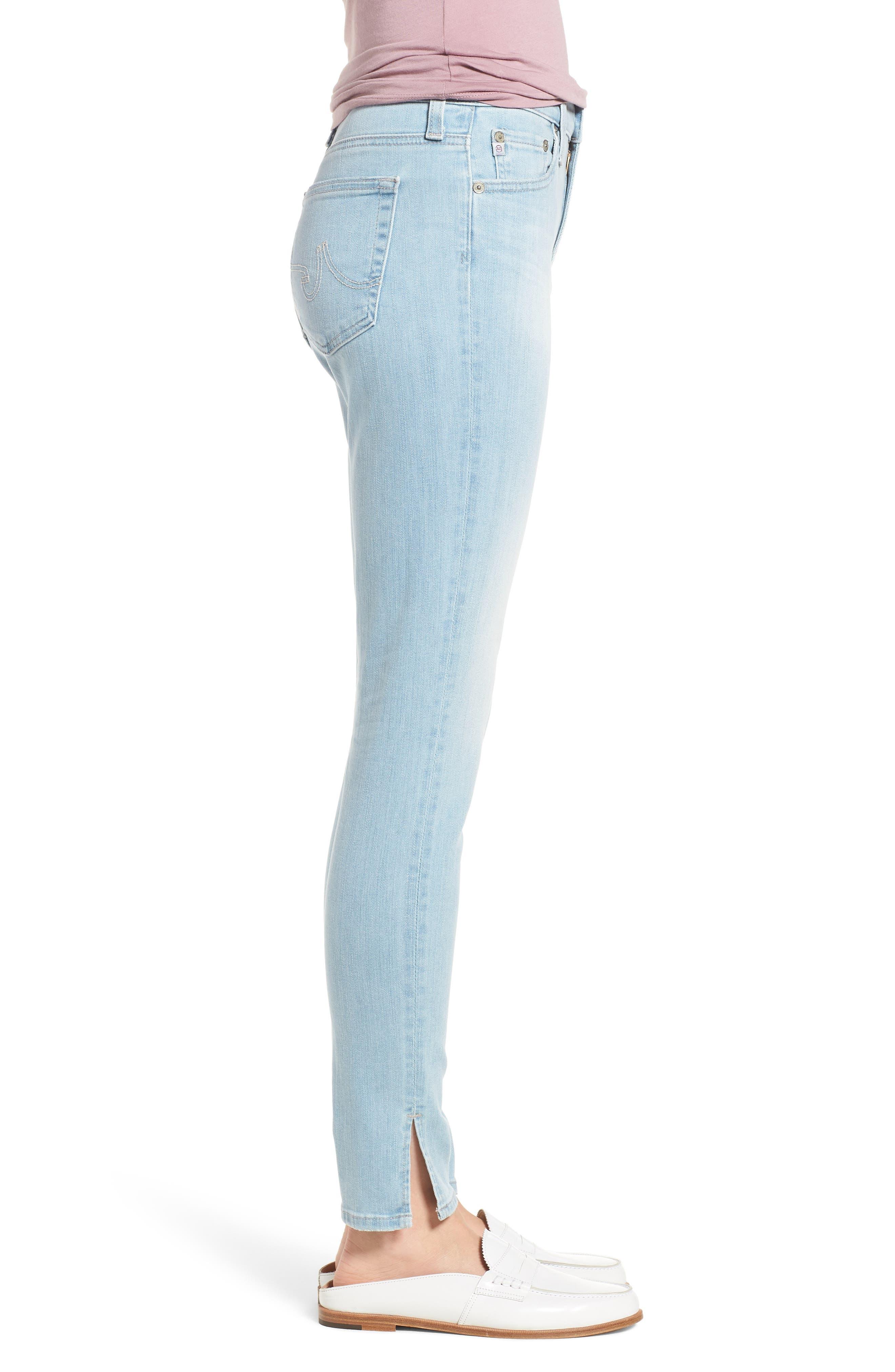 Farrah High Waist Ankle Skinny Jeans,                             Alternate thumbnail 3, color,                             20 Years Sutro
