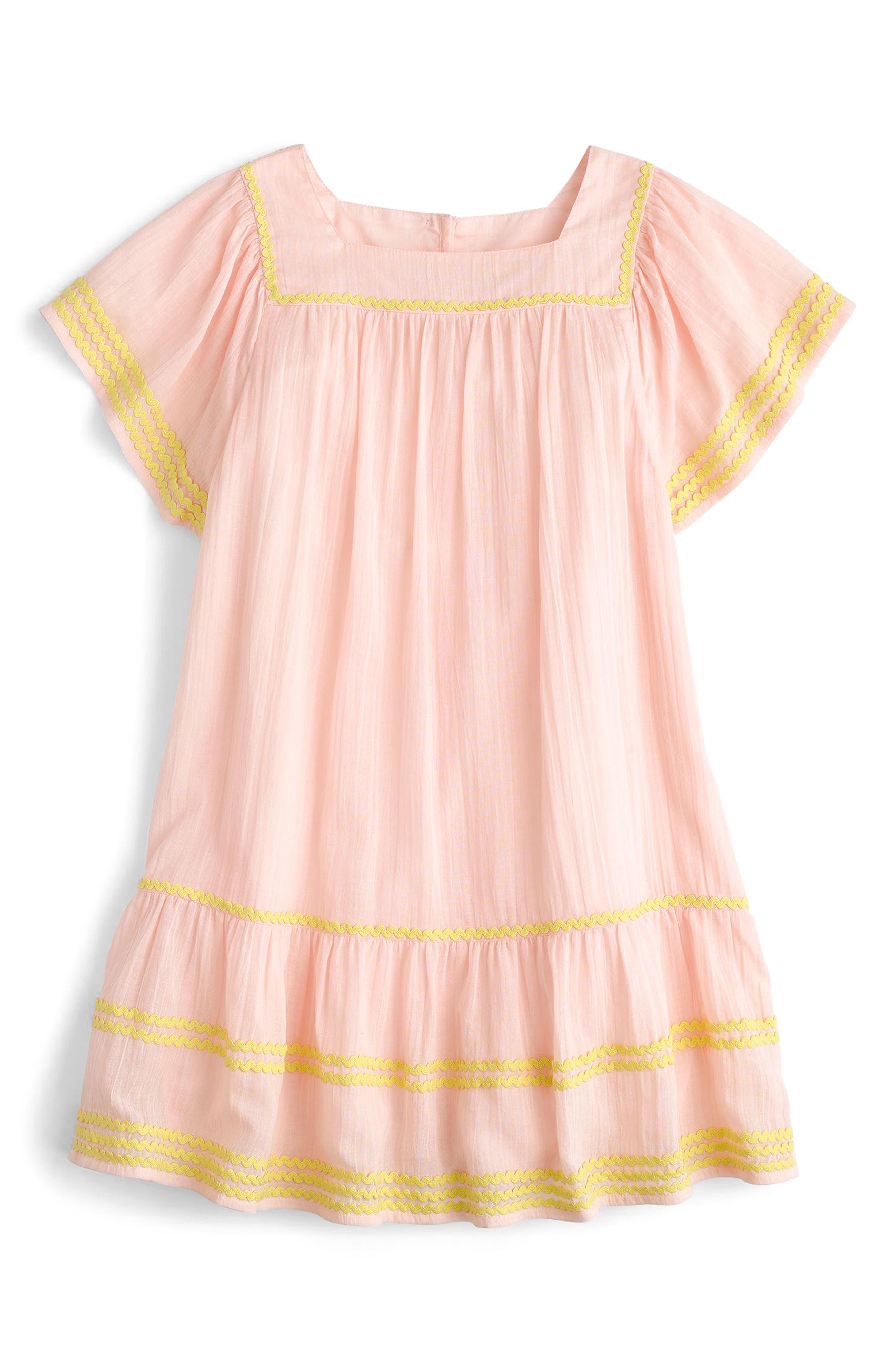 Bardot Cotton Dress,                             Main thumbnail 1, color,                             Sunwashed Pink