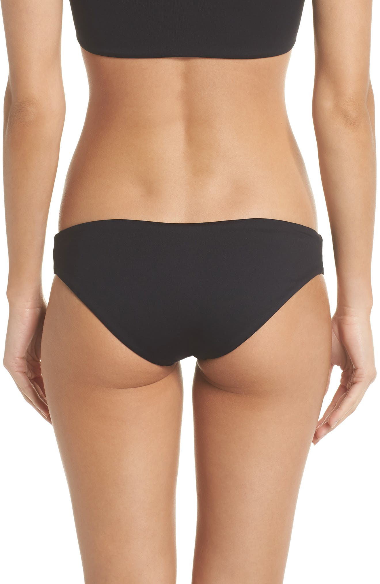 Moonless Night Sublime Reversible Bikini Bottoms,                             Alternate thumbnail 2, color,                             Black