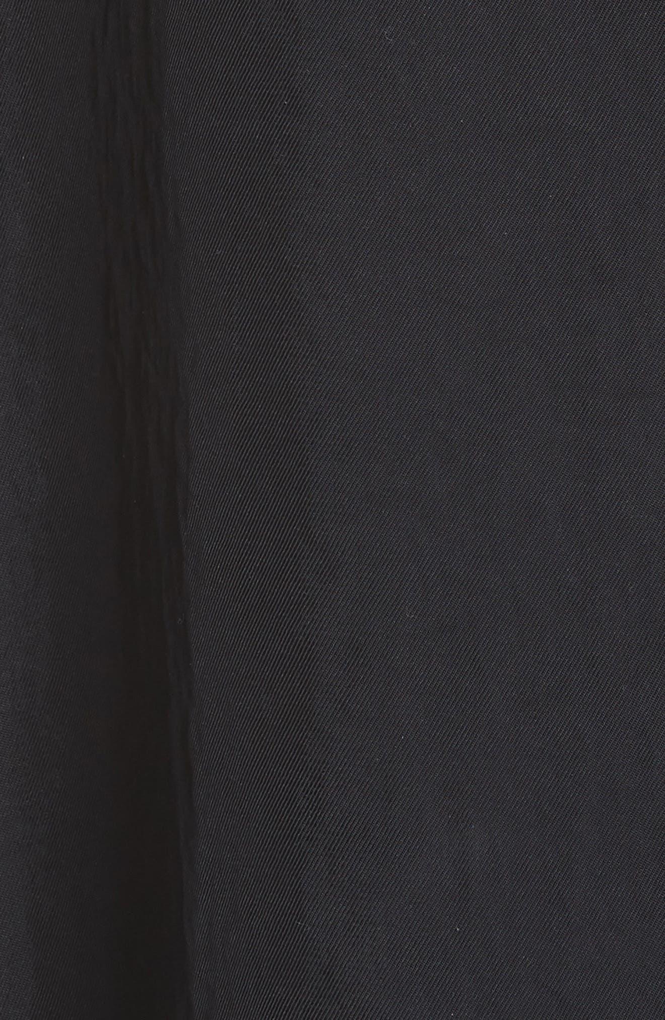 Rib Trim Dress,                             Alternate thumbnail 3, color,                             Black