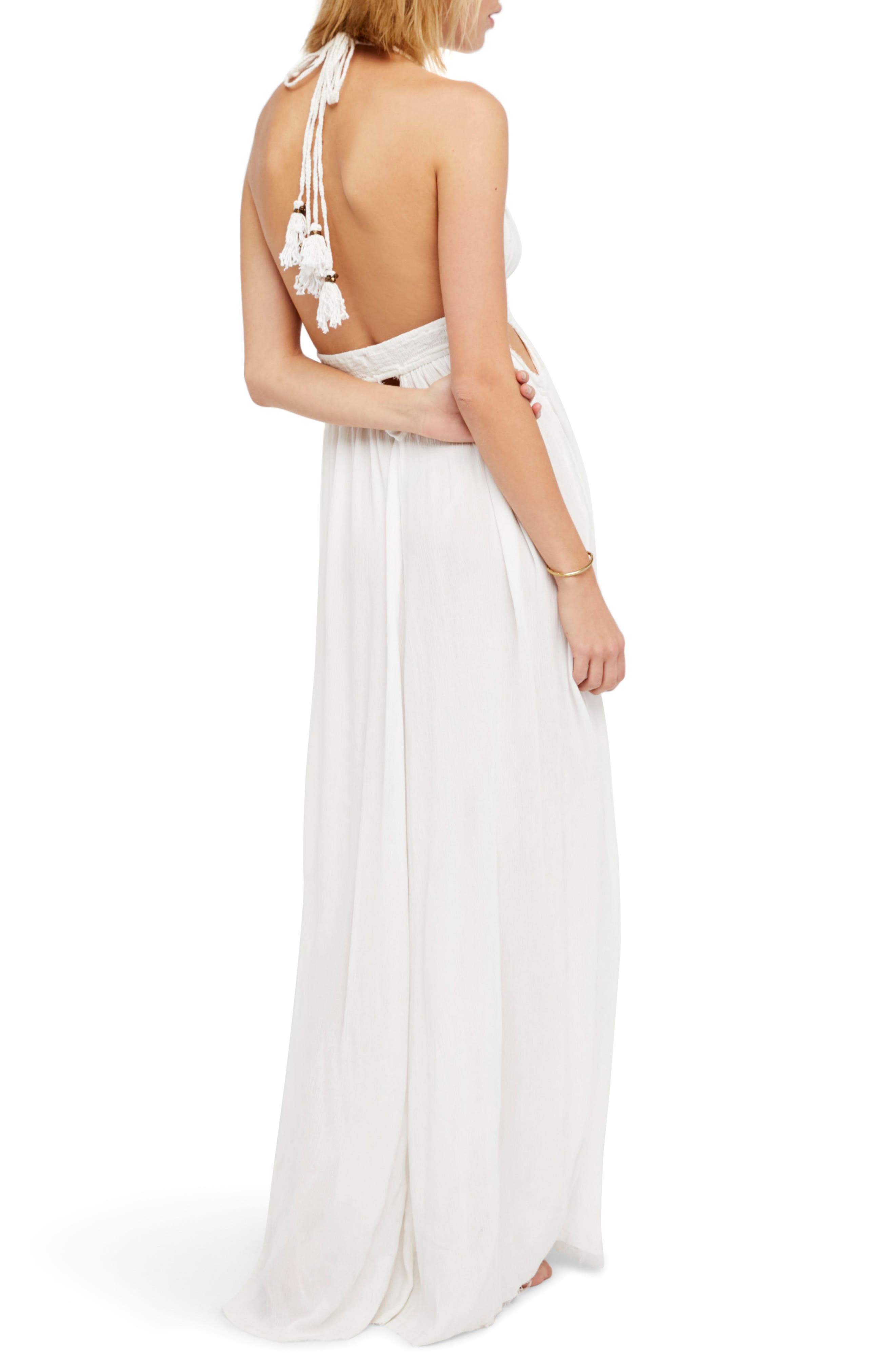 Endless Summer by Free People Look into the Sun Maxi Dress,                             Alternate thumbnail 3, color,                             Ivory