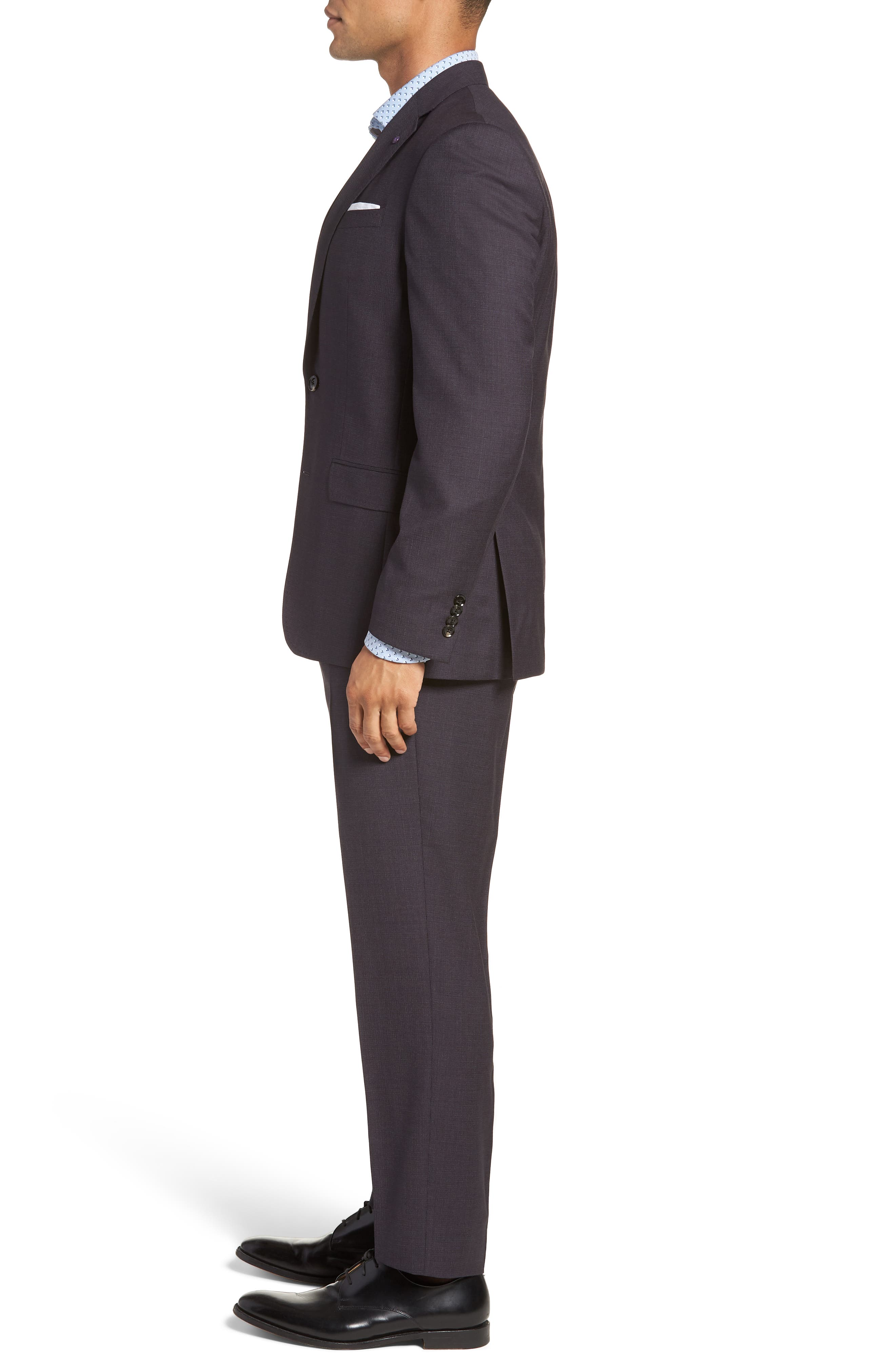 Jay Trim Fit Solid Wool Suit,                             Alternate thumbnail 3, color,                             Brown Multi