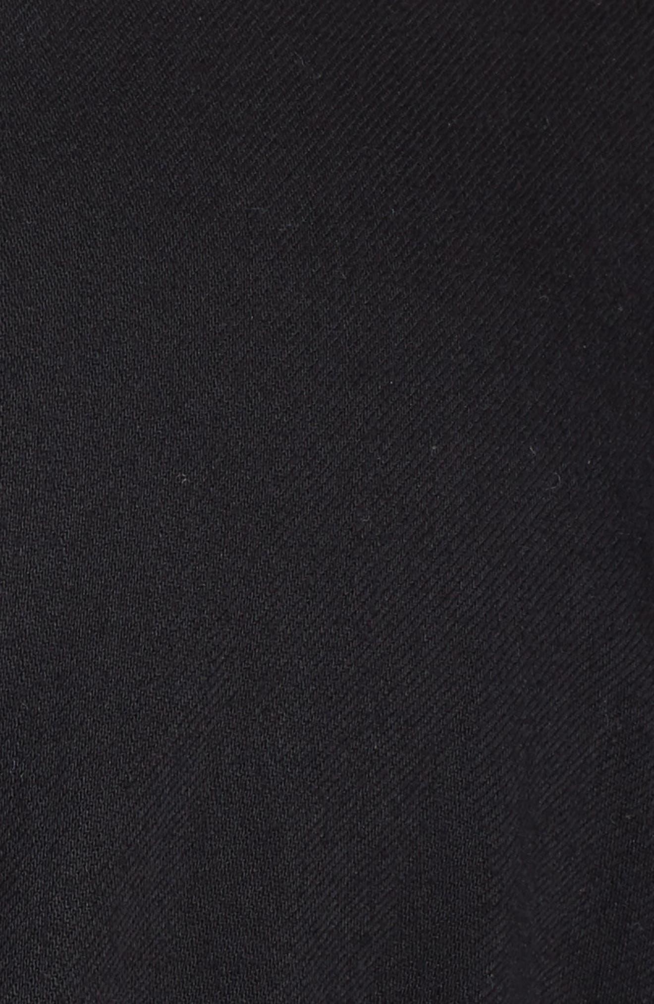 Shirttail Hem Organic Cotton Jacket,                             Alternate thumbnail 6, color,                             Black