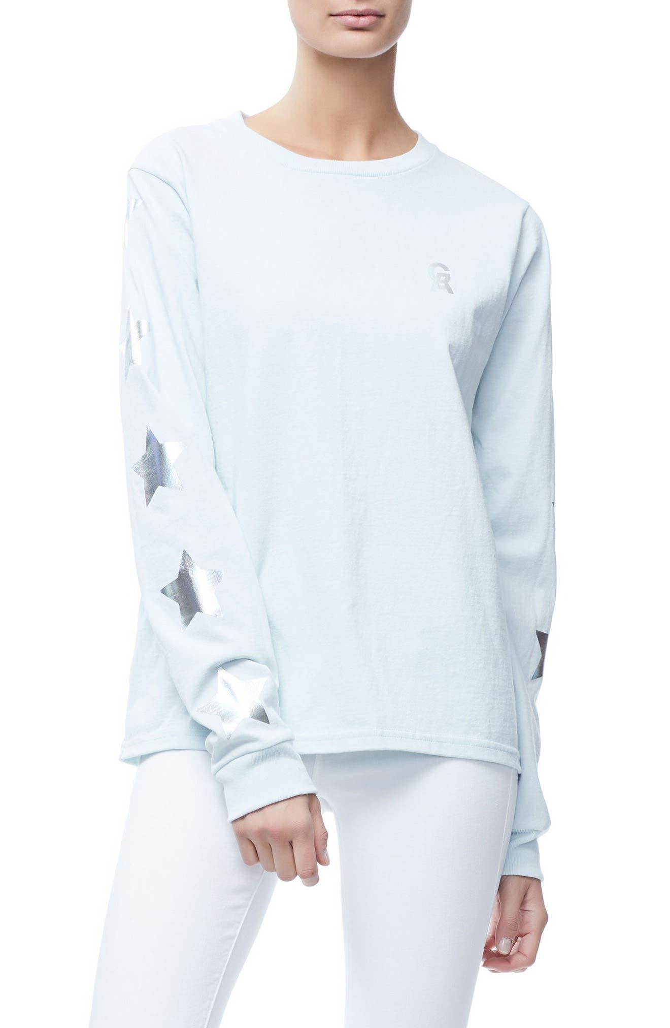 Good American Star Sleeve Skater Tee (Regular & Plus)