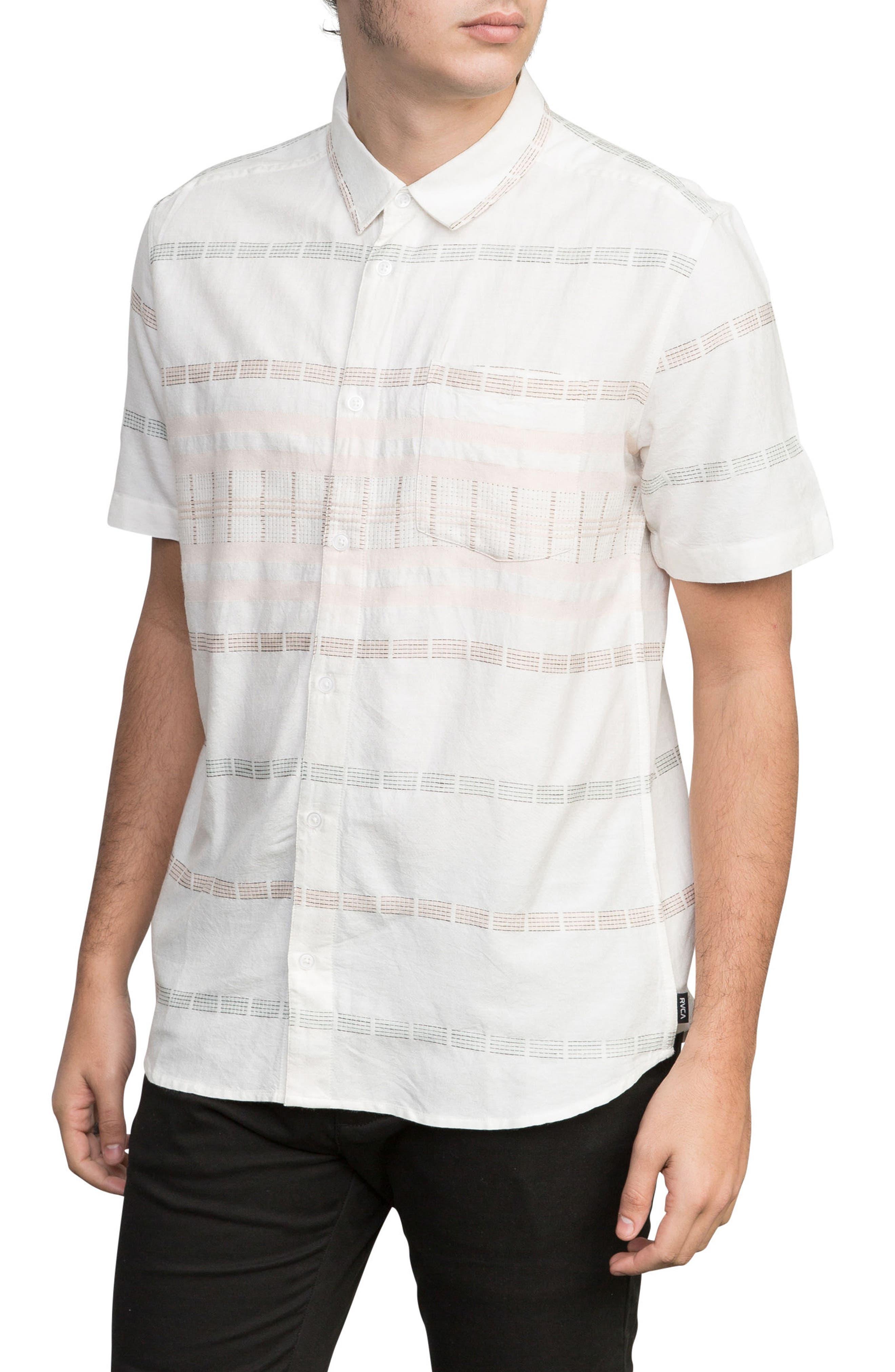 Krazy Kat Woven Shirt,                             Main thumbnail 1, color,                             Antique White