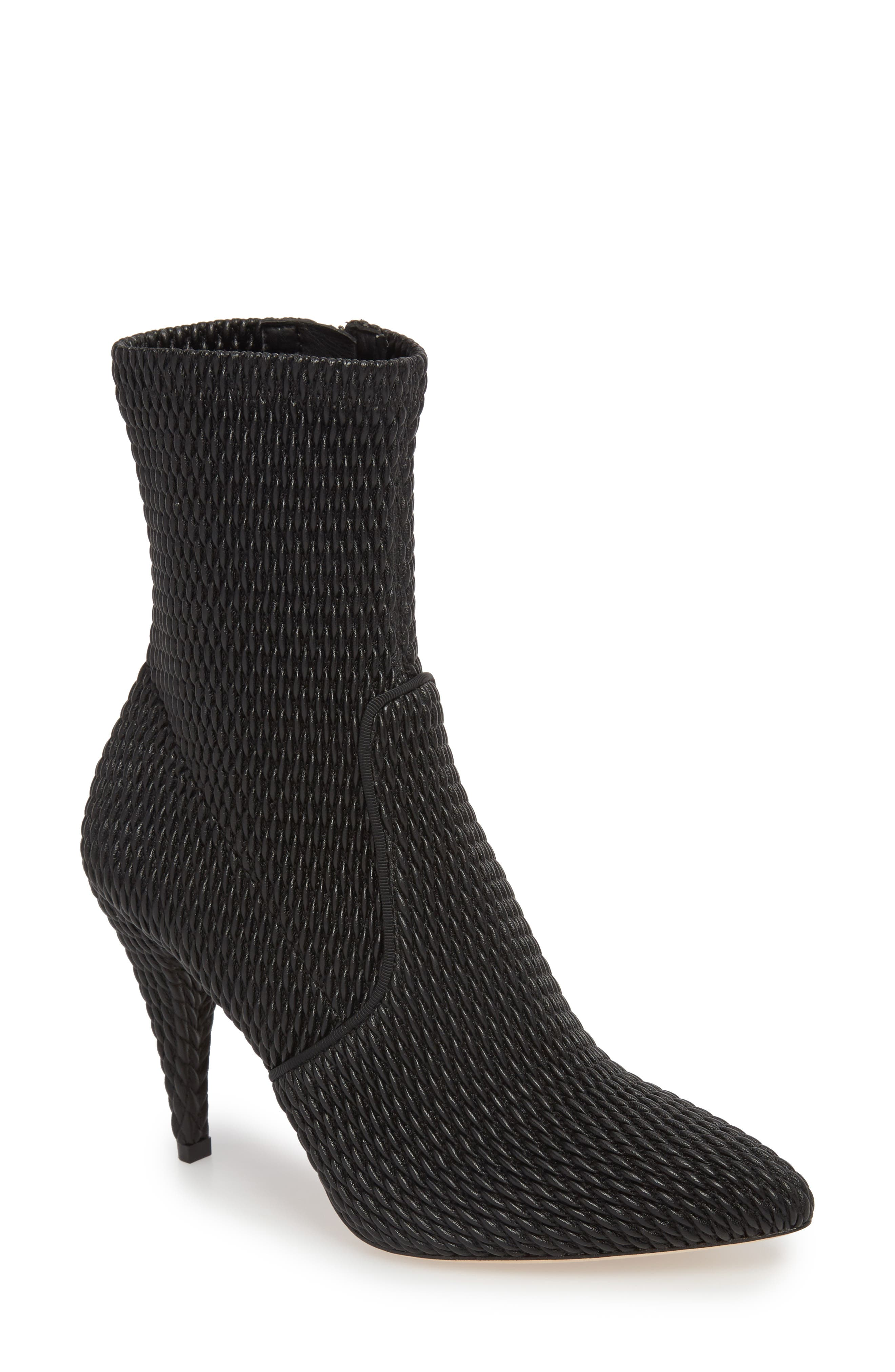 Hedde Pointy Toe Bootie,                             Main thumbnail 1, color,                             Black