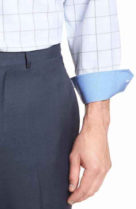 W.R.K Trim Fit Plaid 4-Way Stretch Dress Shirt