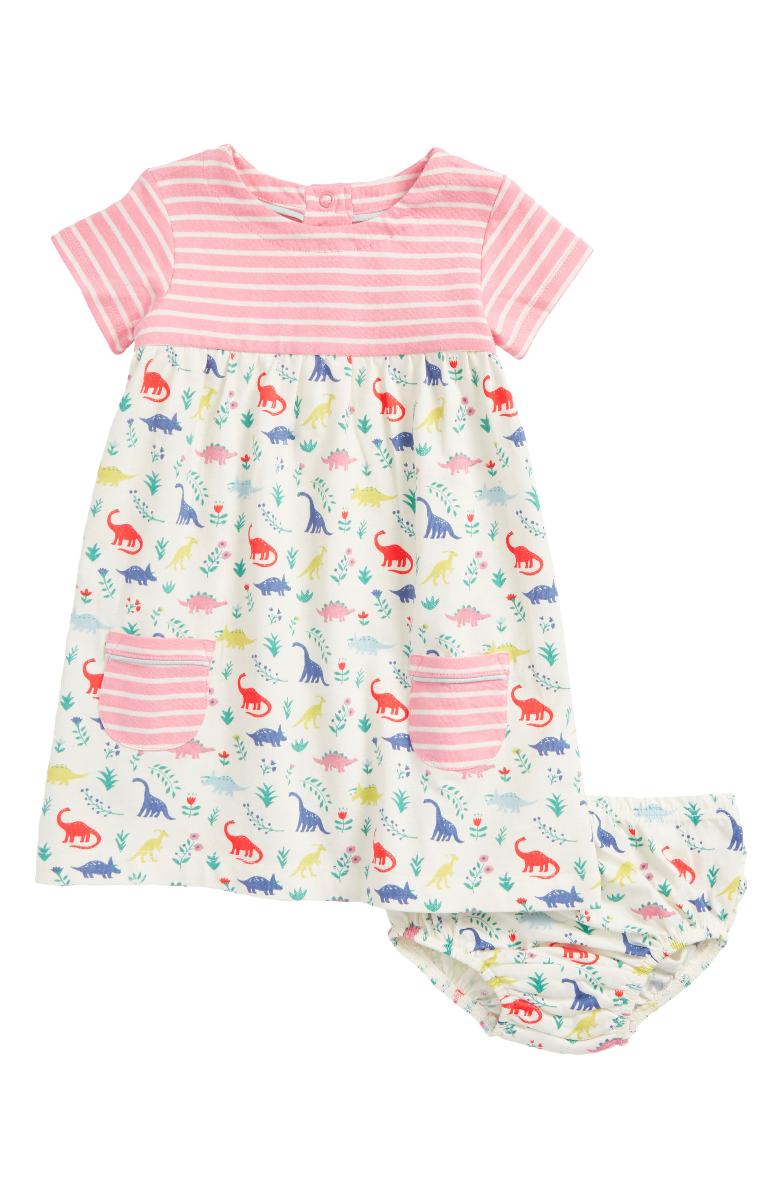 Main Image - Mini Boden Hotchpotch Jersey Dress (Baby Girls & Toddler Girls)