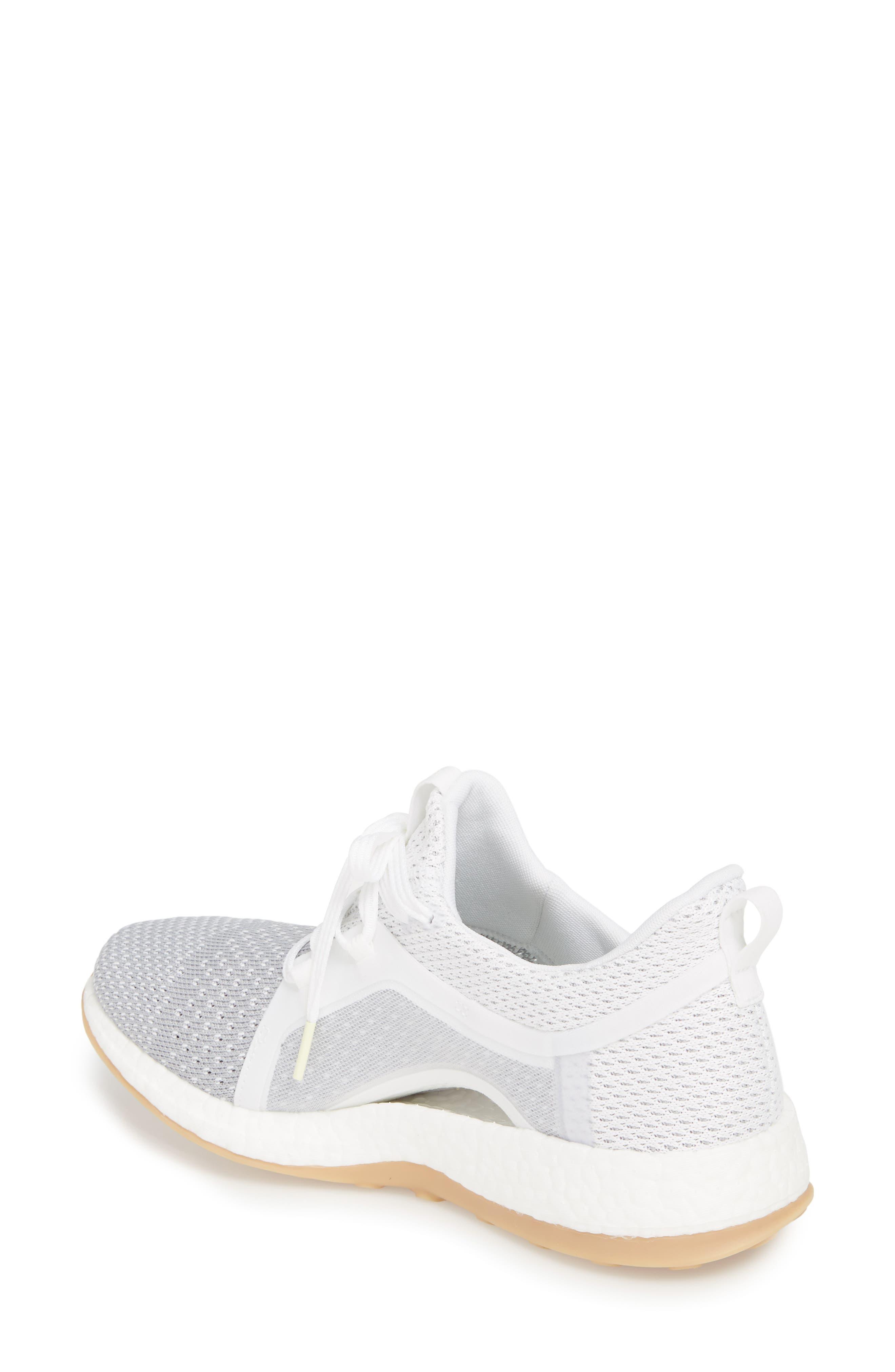 Pureboost X Clima Sneaker,                             Alternate thumbnail 2, color,                             White/ Silver/ Grey