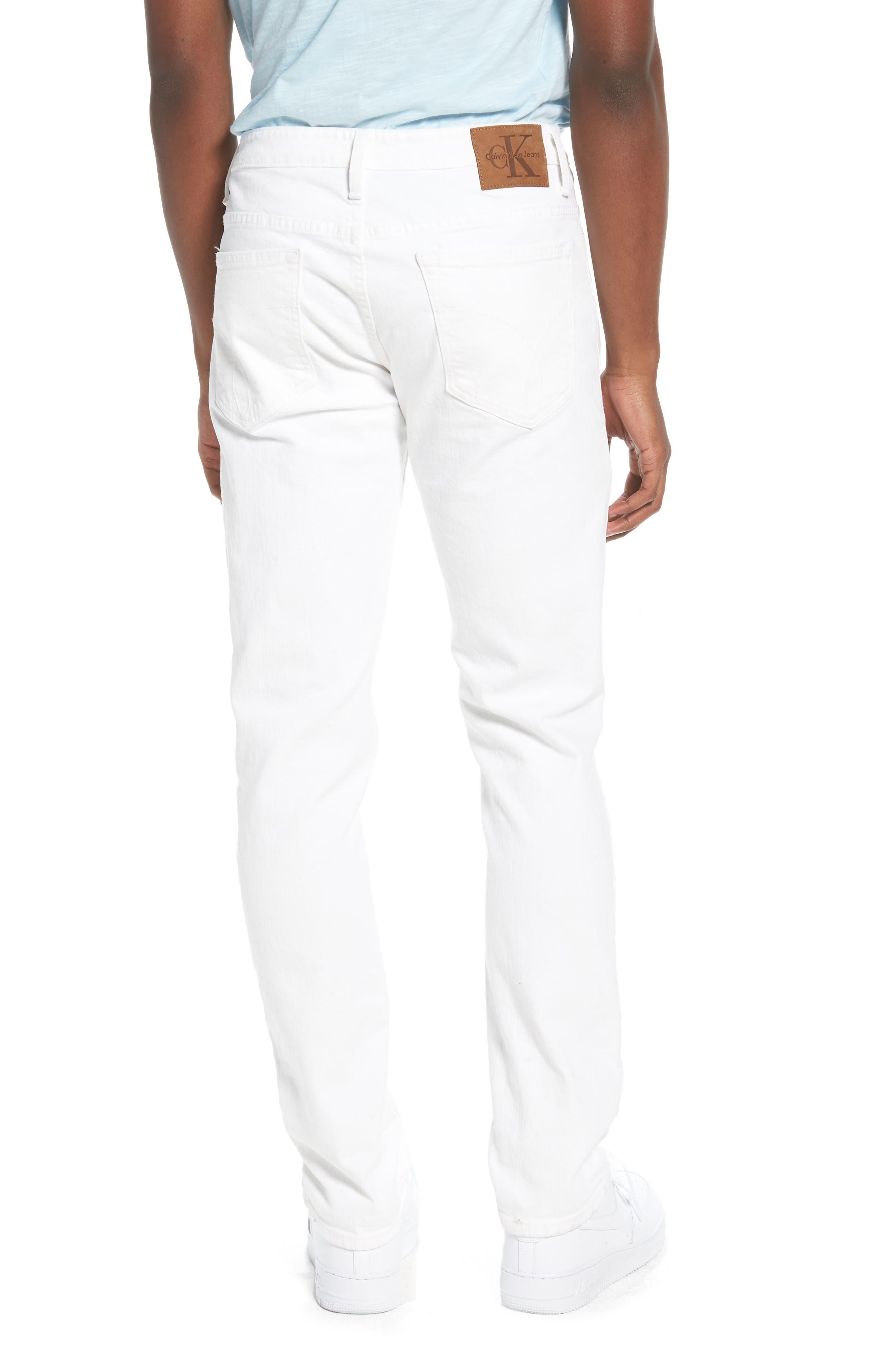 Skinny Jeans,                             Alternate thumbnail 2, color,                             Door White Destruct