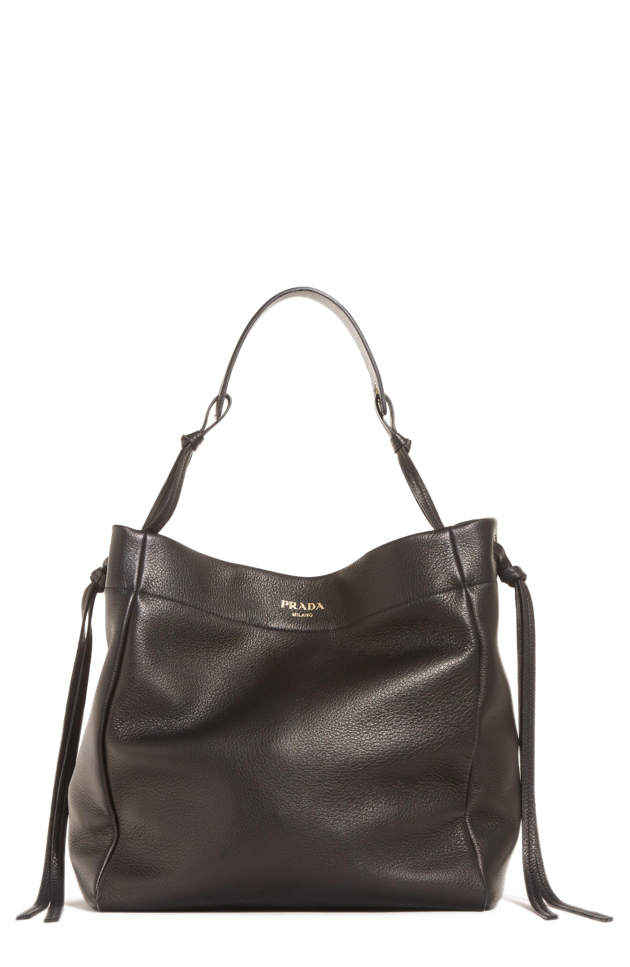 d581afae85f123 new zealand prada large deerskin leather hobo b6dfe 8ad14