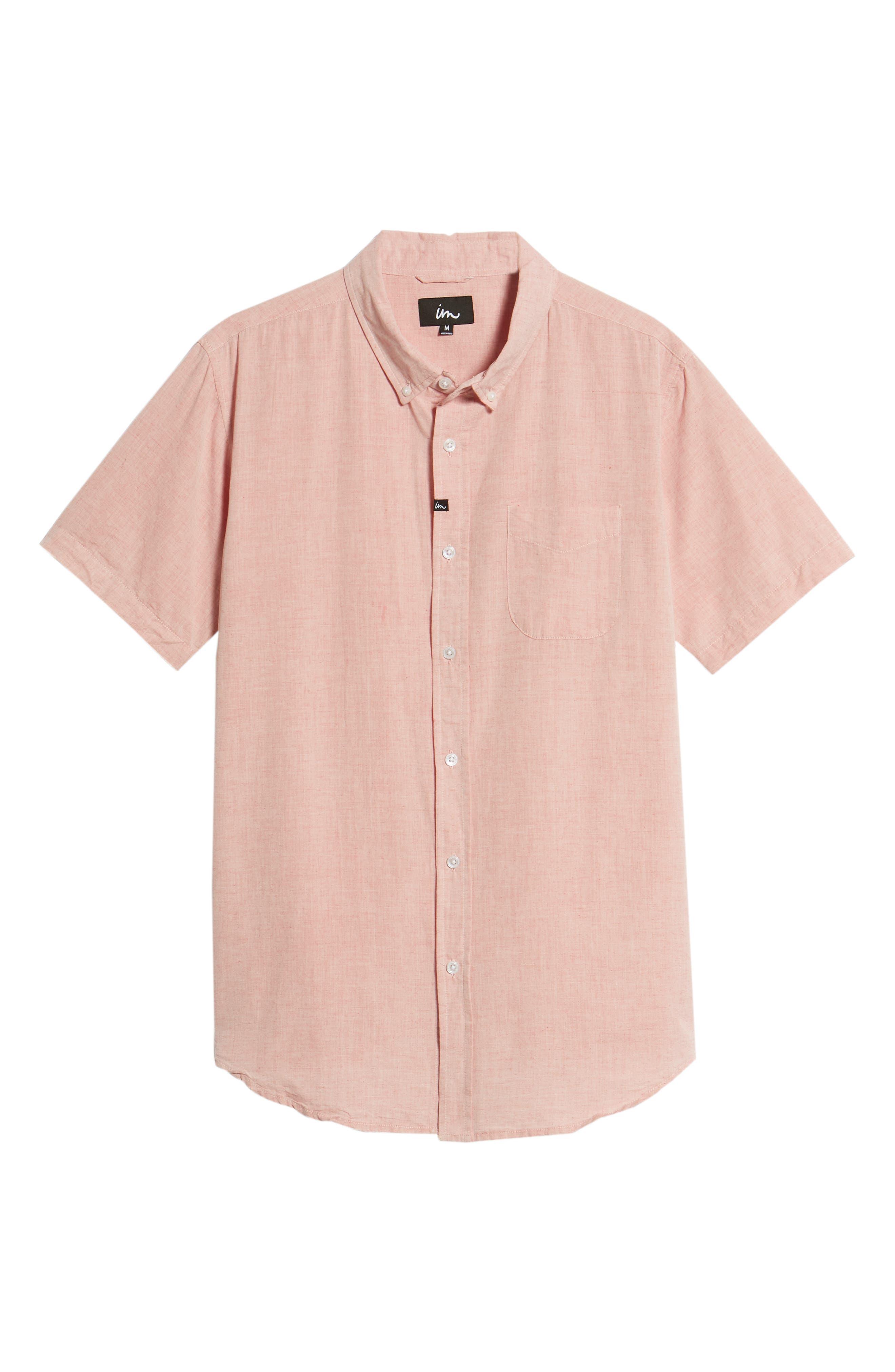 Triumph Woven Shirt,                             Alternate thumbnail 6, color,                             Mahogany