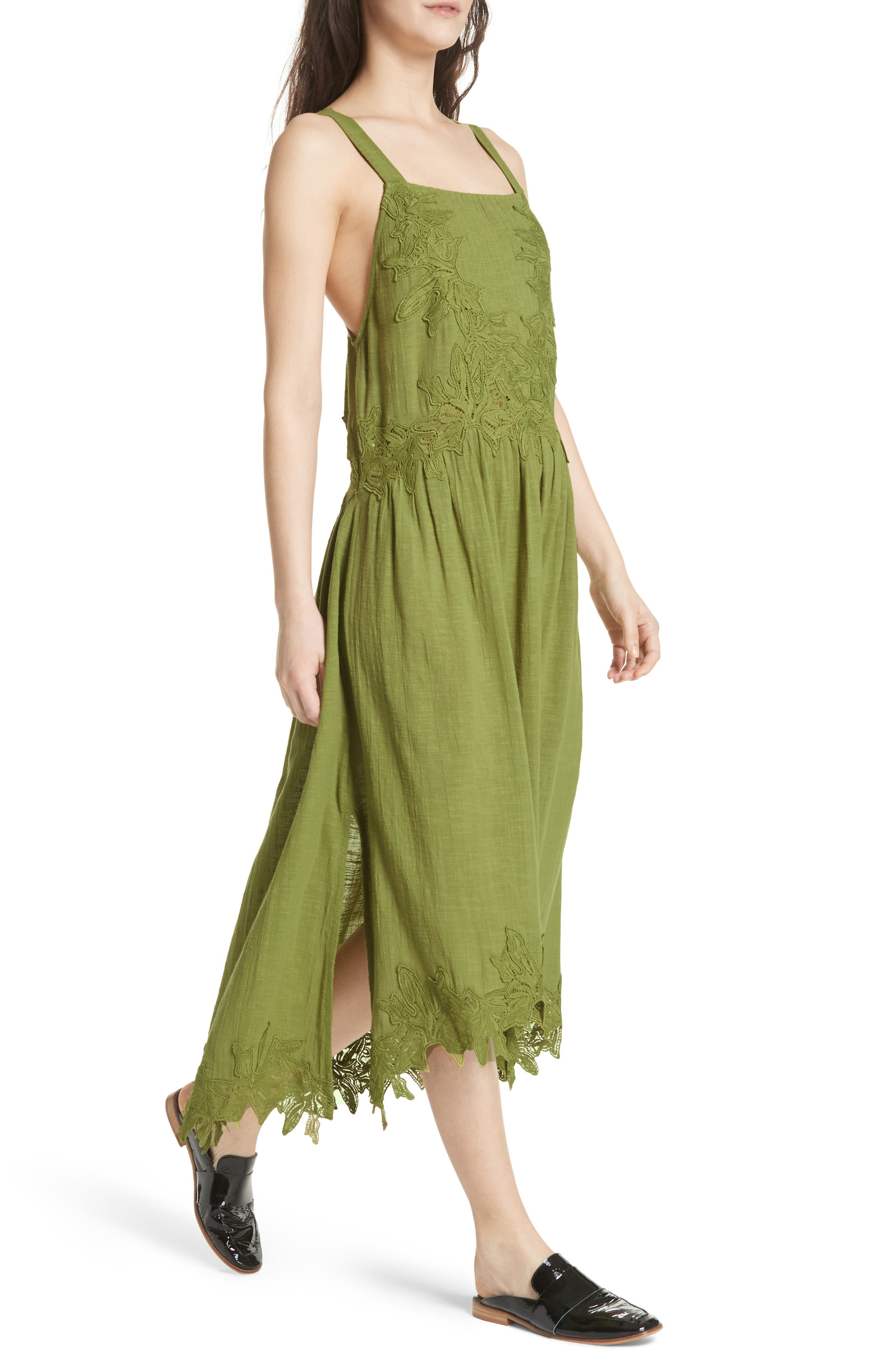 In Your Arms Appliqué Maxi Dress,                             Alternate thumbnail 4, color,                             Green