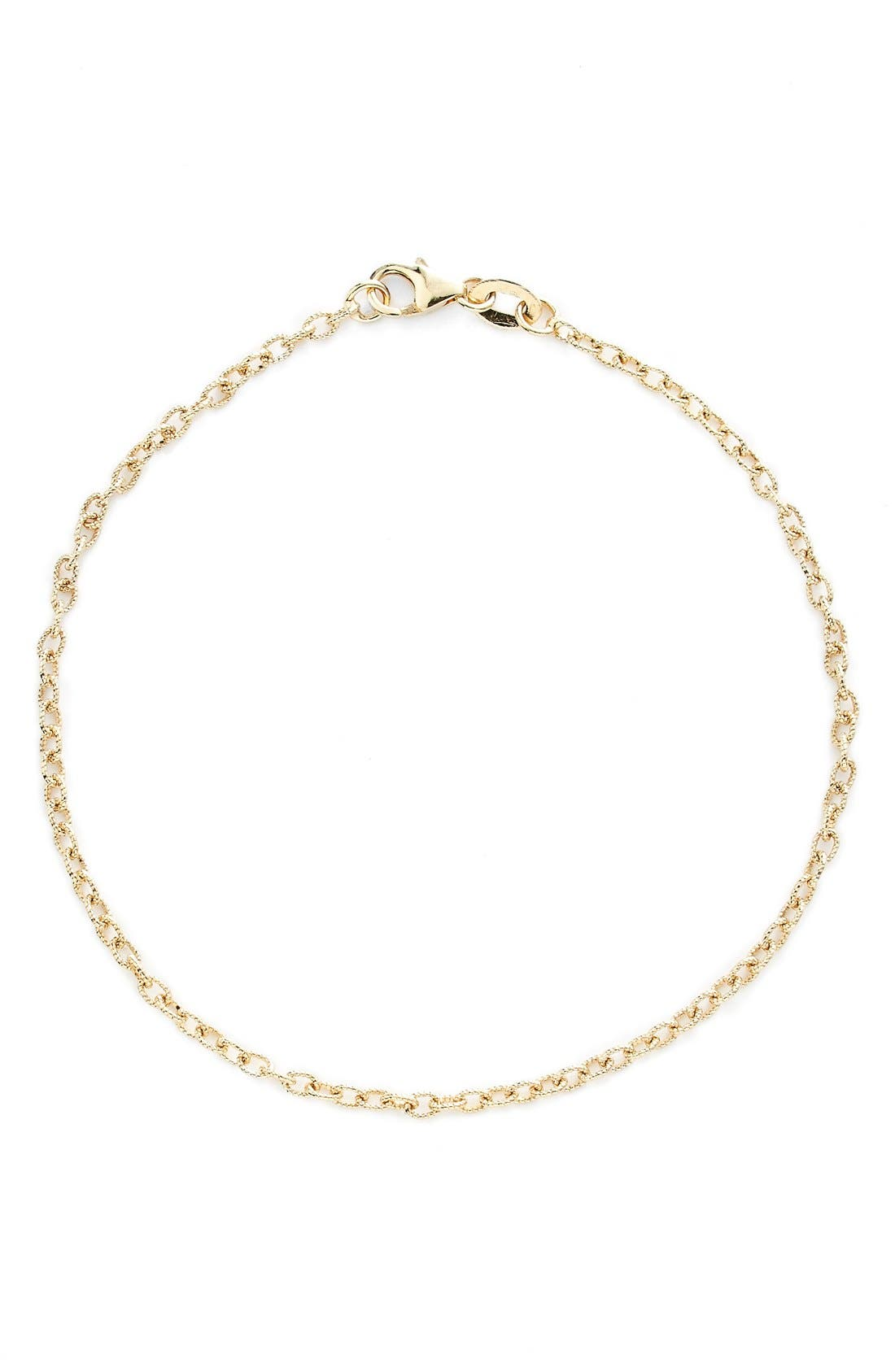 Etched Link Bracelet,                         Main,                         color, Yellow Gold