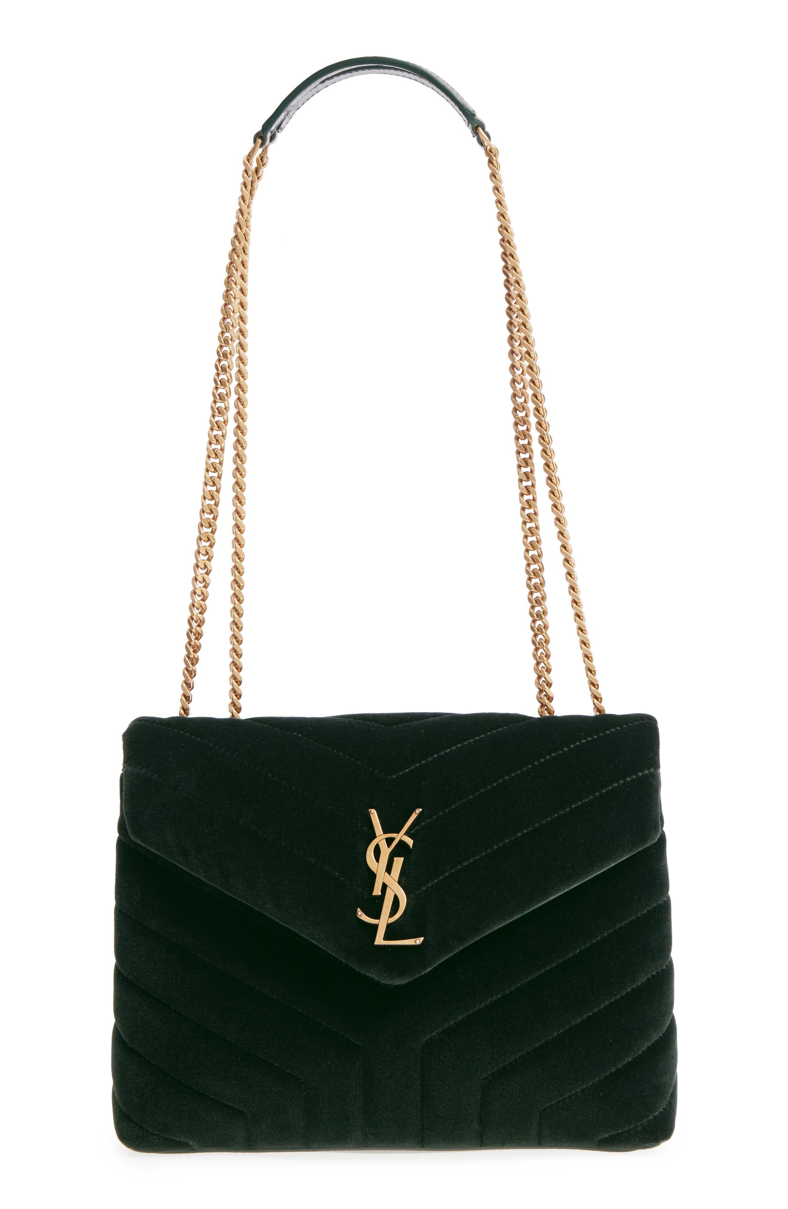 Saint Laurent Small Lou Lou Velvet Shoulder Bag