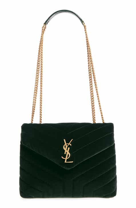 ad107791bd5b Saint Laurent Small Loulou Velvet Shoulder Bag