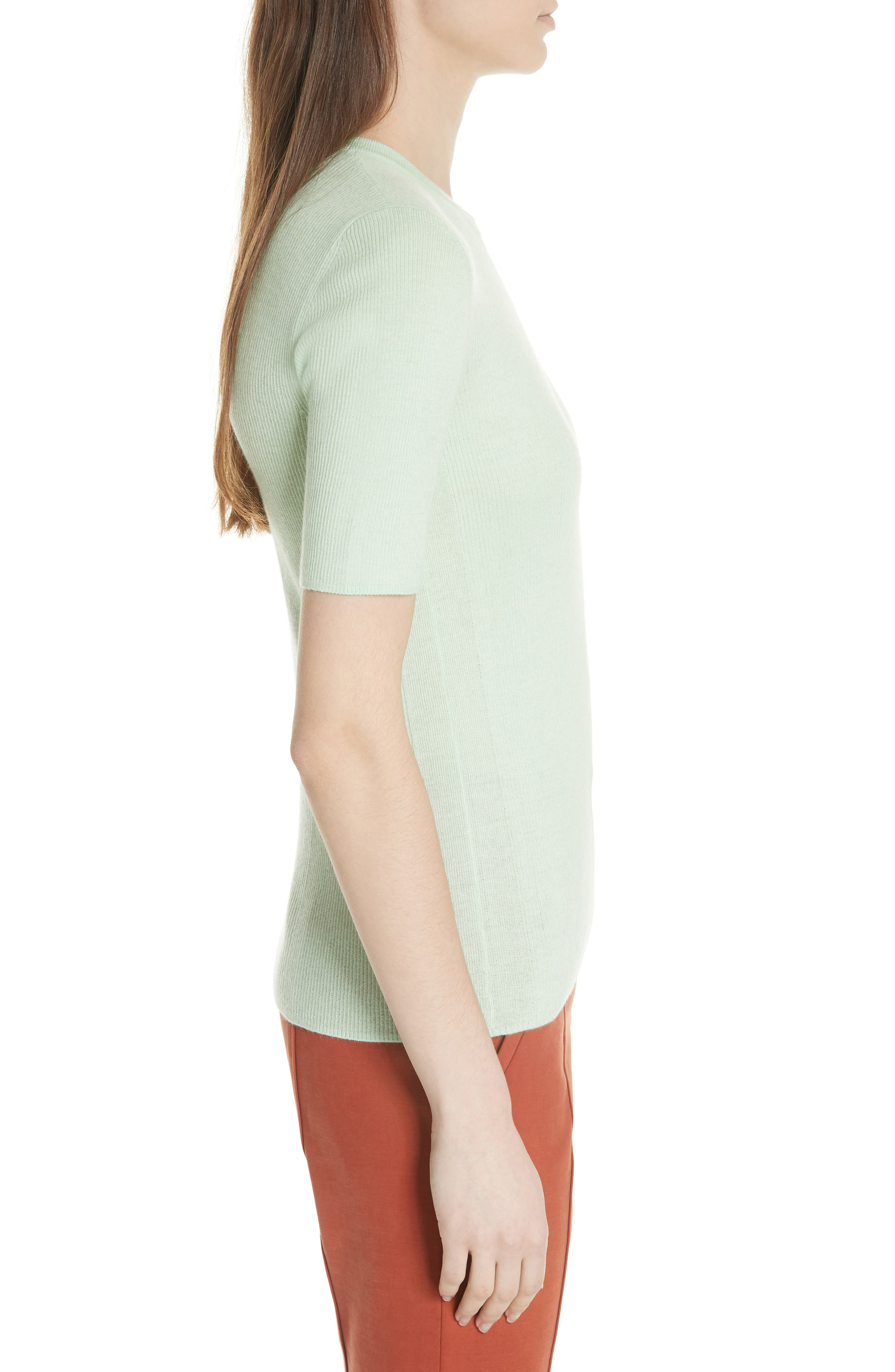 Taylor Ribbed Sweater,                             Alternate thumbnail 5, color,                             Crushed Mint