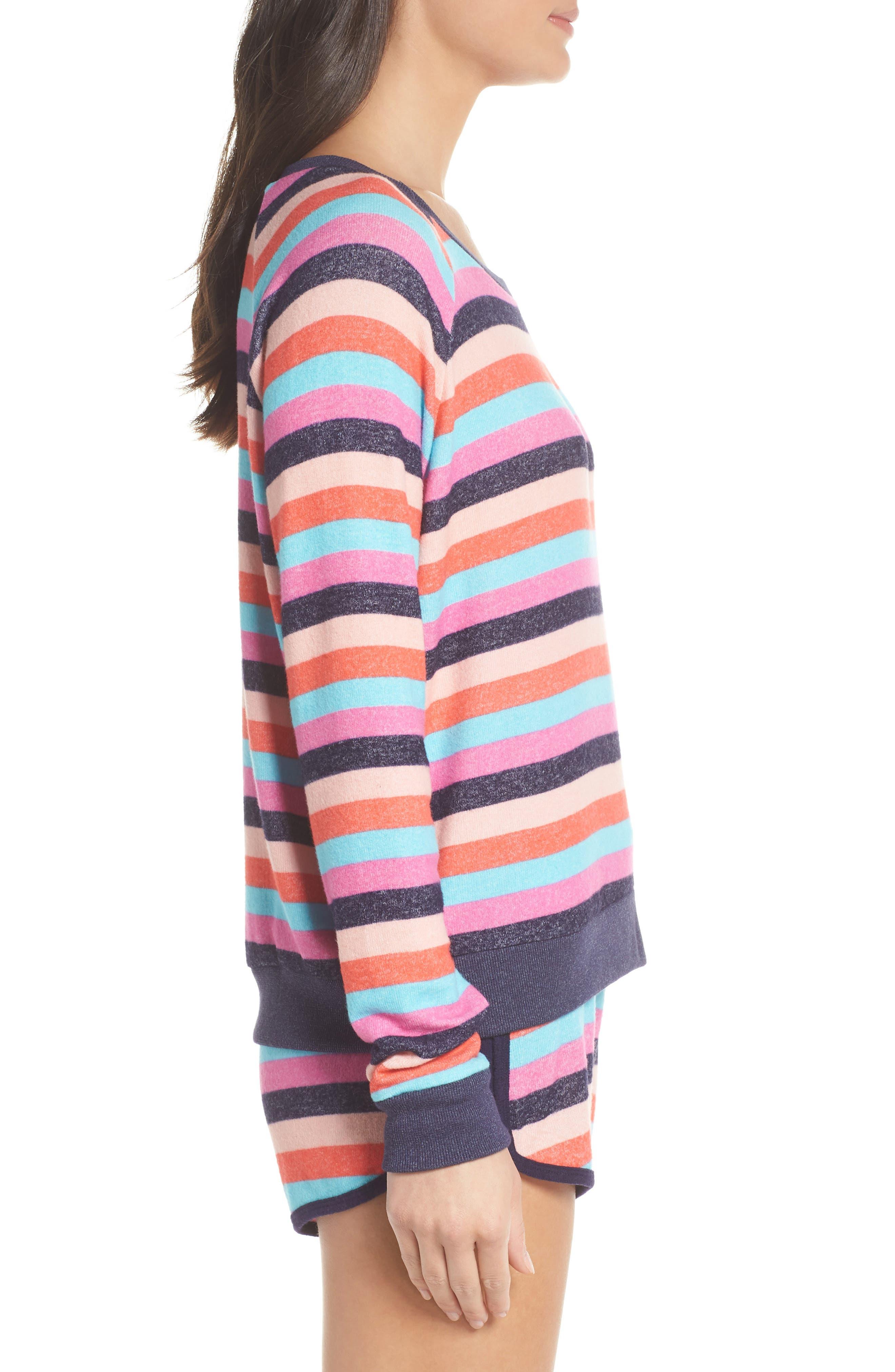 Cozy Crew Raglan Sweatshirt,                             Alternate thumbnail 3, color,                             Navy Dusk Milli Multi Stripe