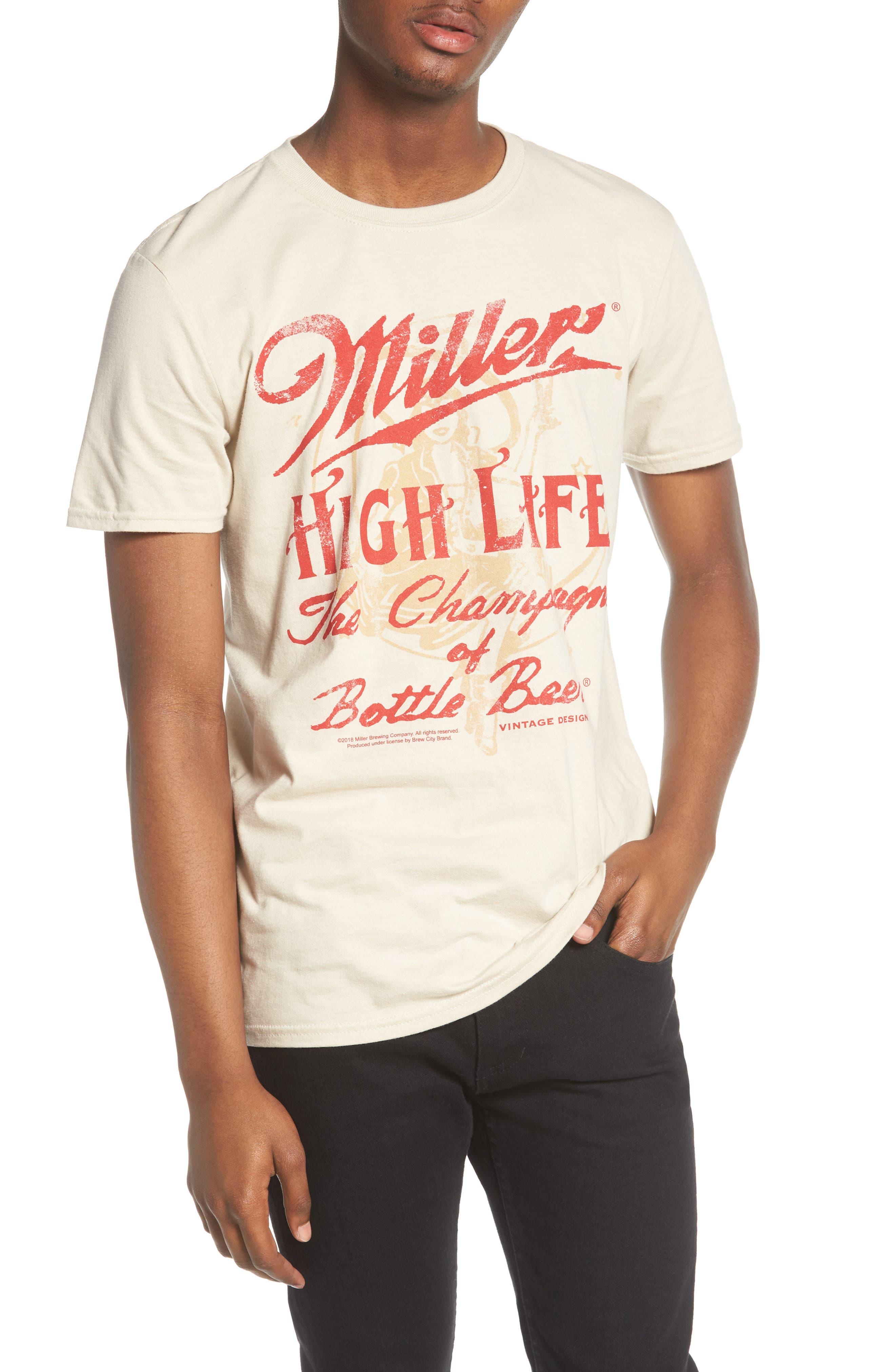 Outlet Visit The Rail Miller High Life T-Shirt Cheap Brand New Unisex 0LtYZ