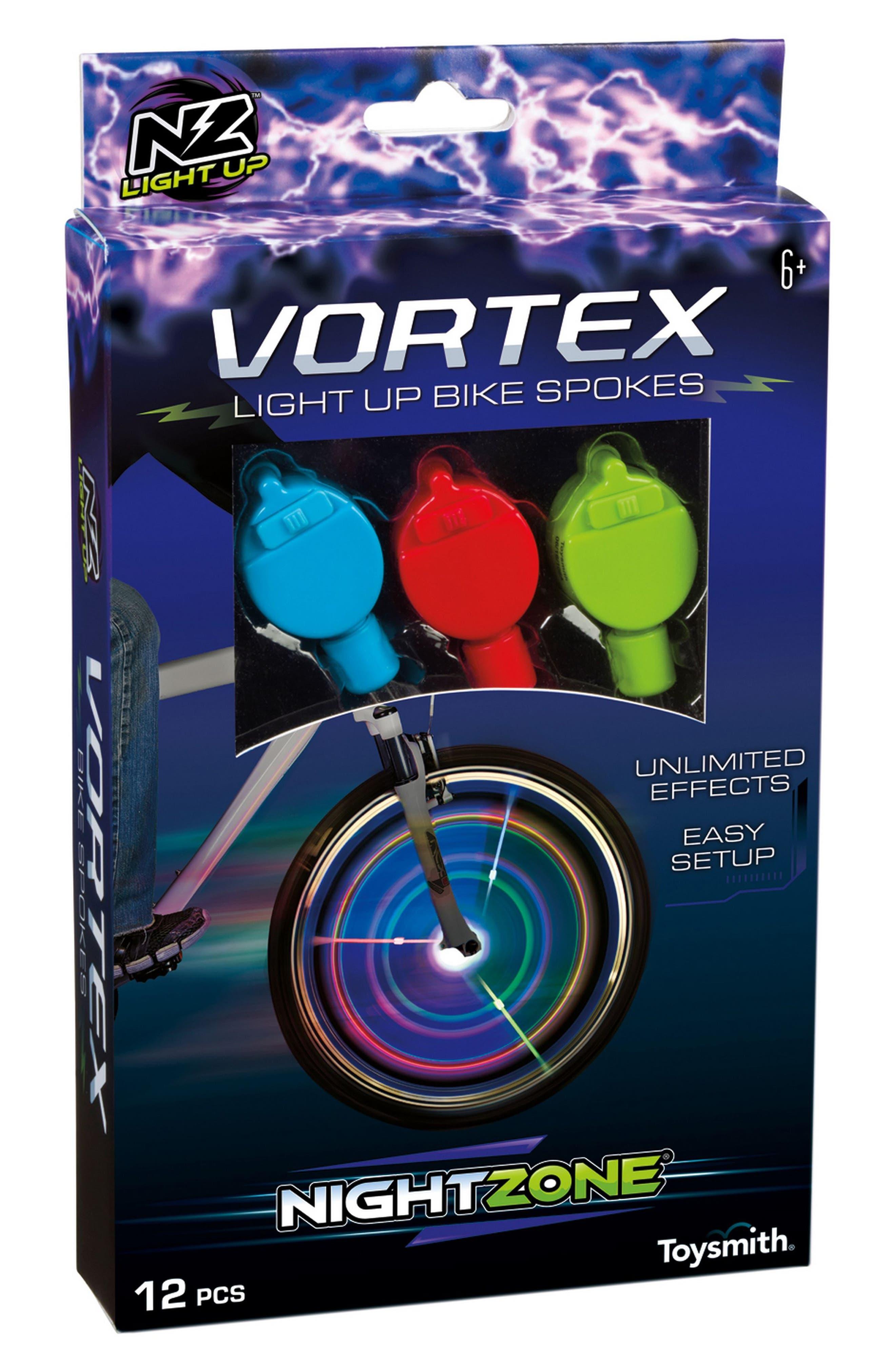 Nightzone Vortex Light-Up Bike Spokes,                         Main,                         color, Red