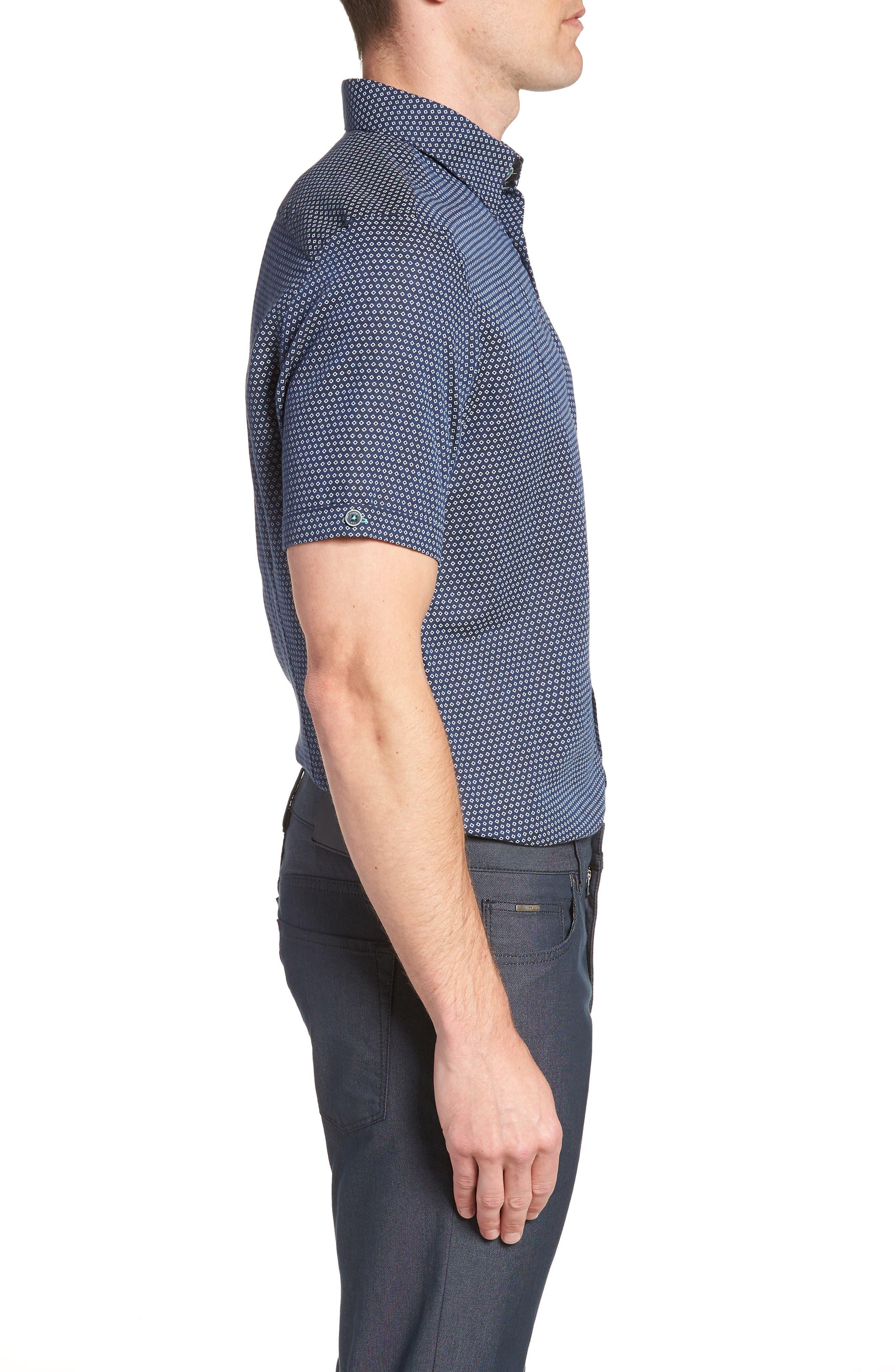 Sirobtt Short Sleeve Sport Shirt,                             Alternate thumbnail 4, color,                             Navy