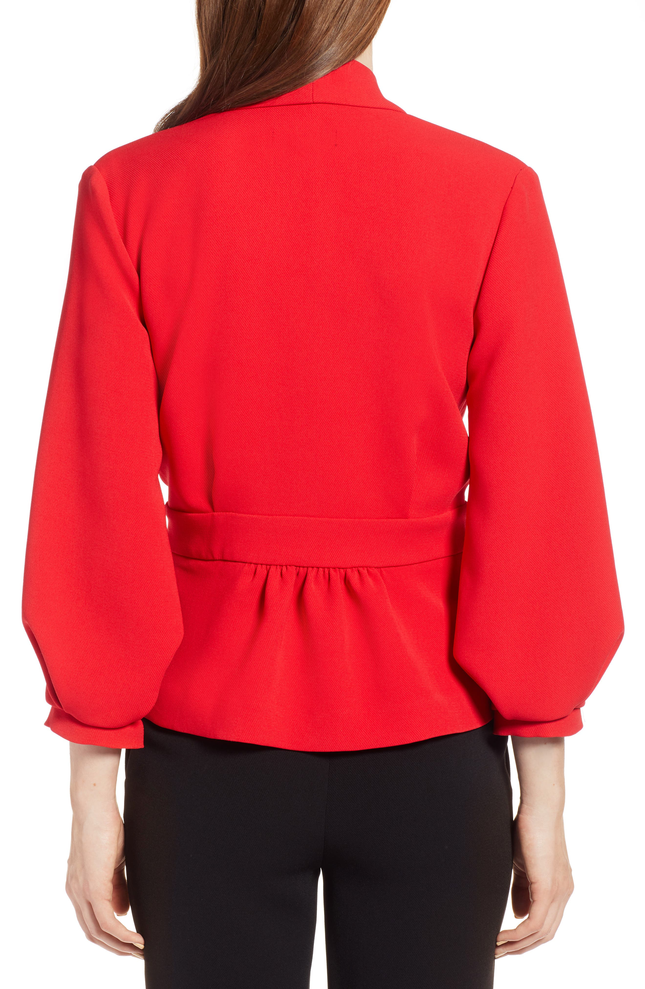 Blouson Sleeve Jacket,                             Alternate thumbnail 2, color,                             Red Chinoise