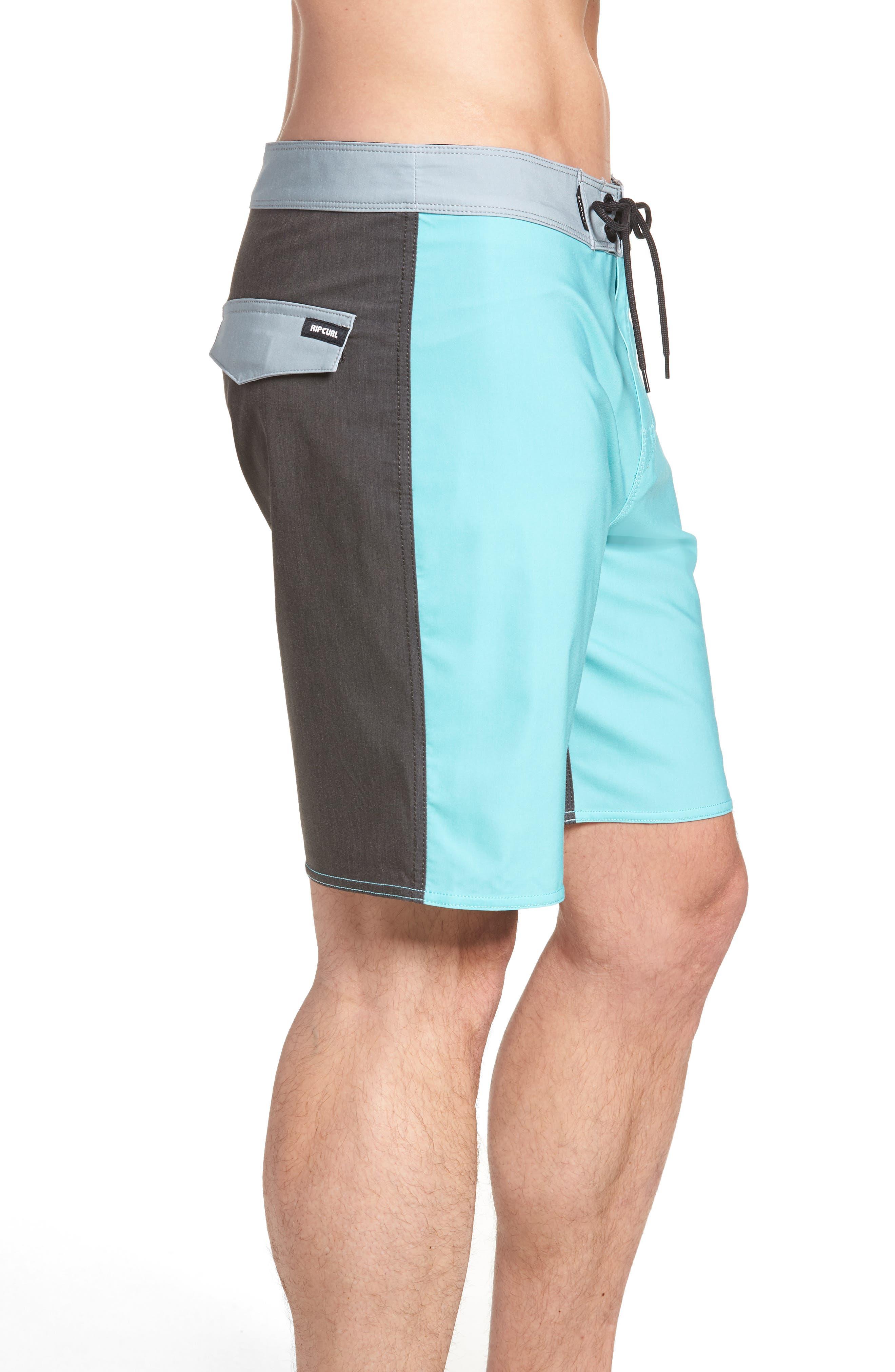 Mirage Owen Stretch Board Shorts,                             Alternate thumbnail 3, color,                             Aqua